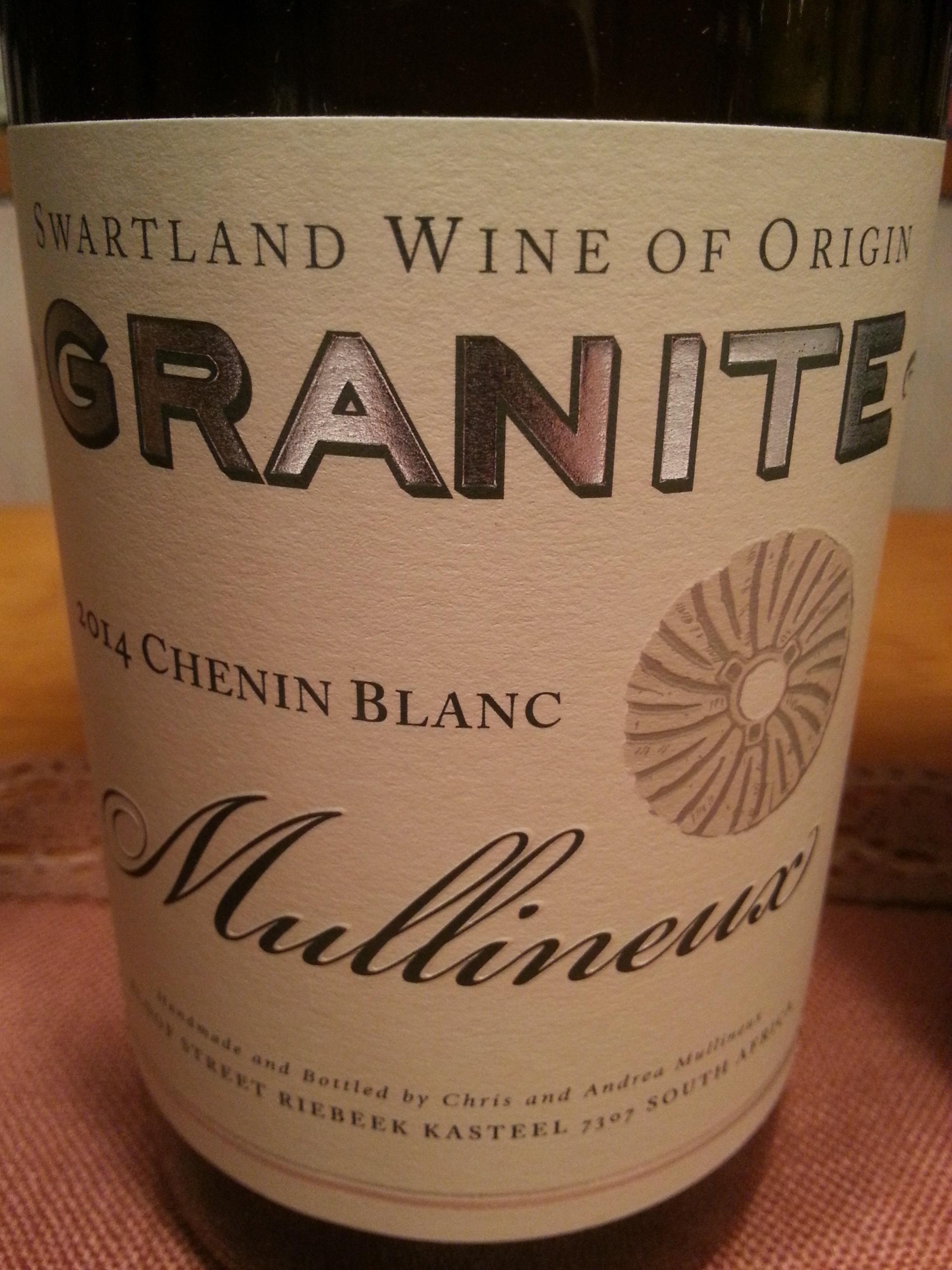 2014 Chenin Blanc Granite   Mullineux