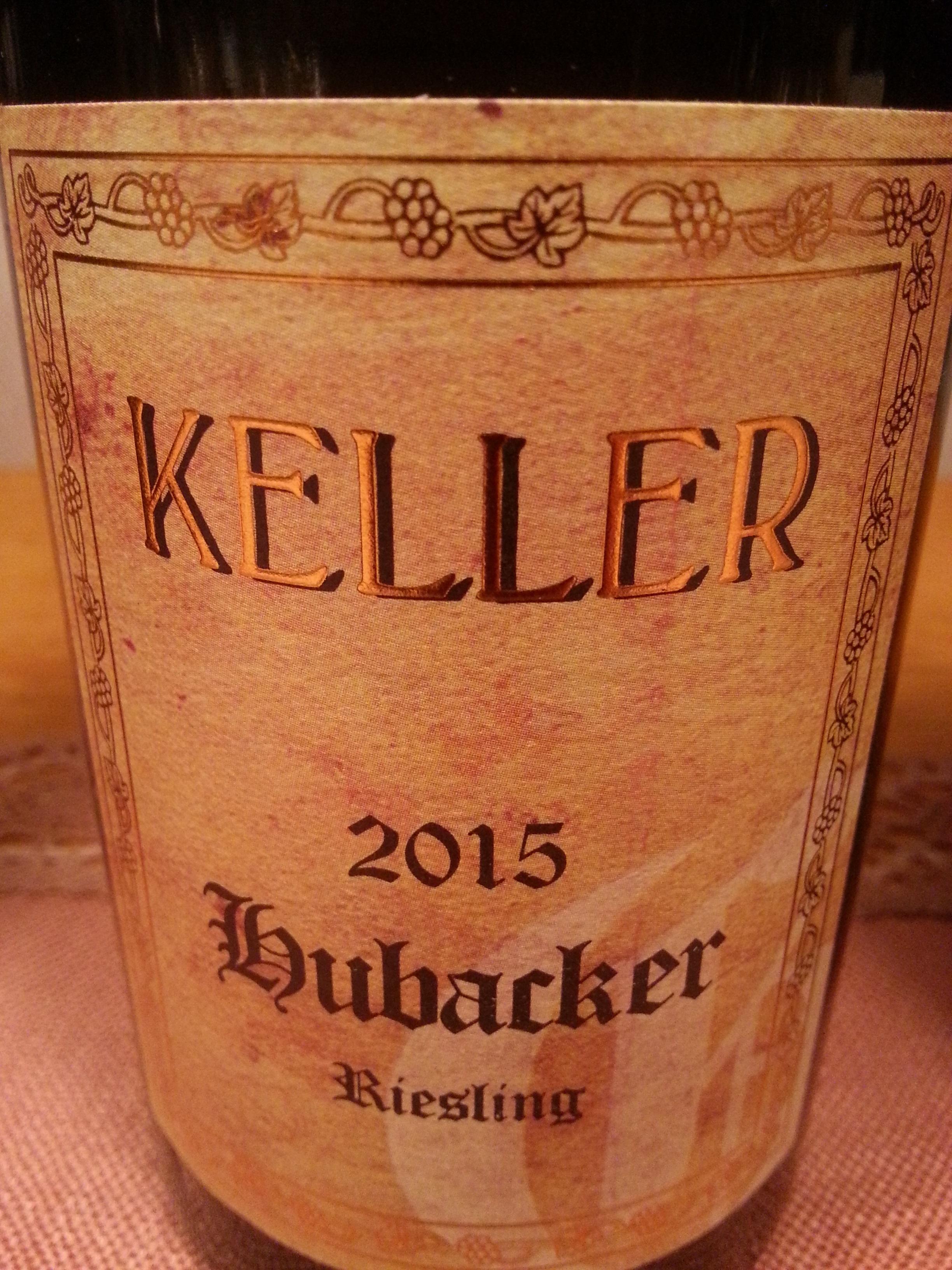2015 Riesling Hubacker GG   Keller