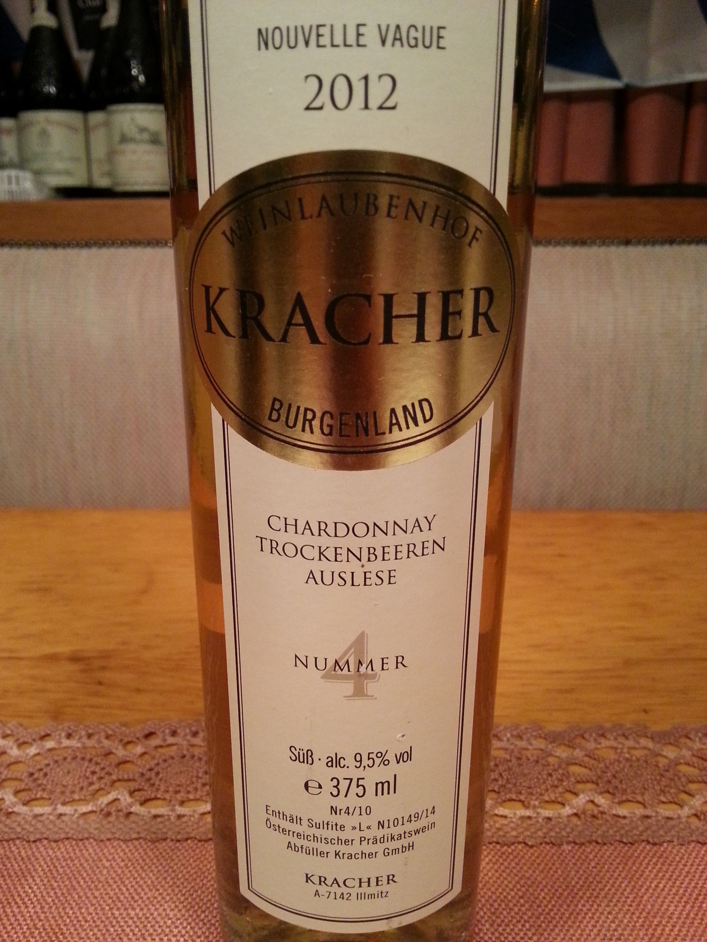 2012 Chardonnay TBA No. 4 N.V. | Kracher