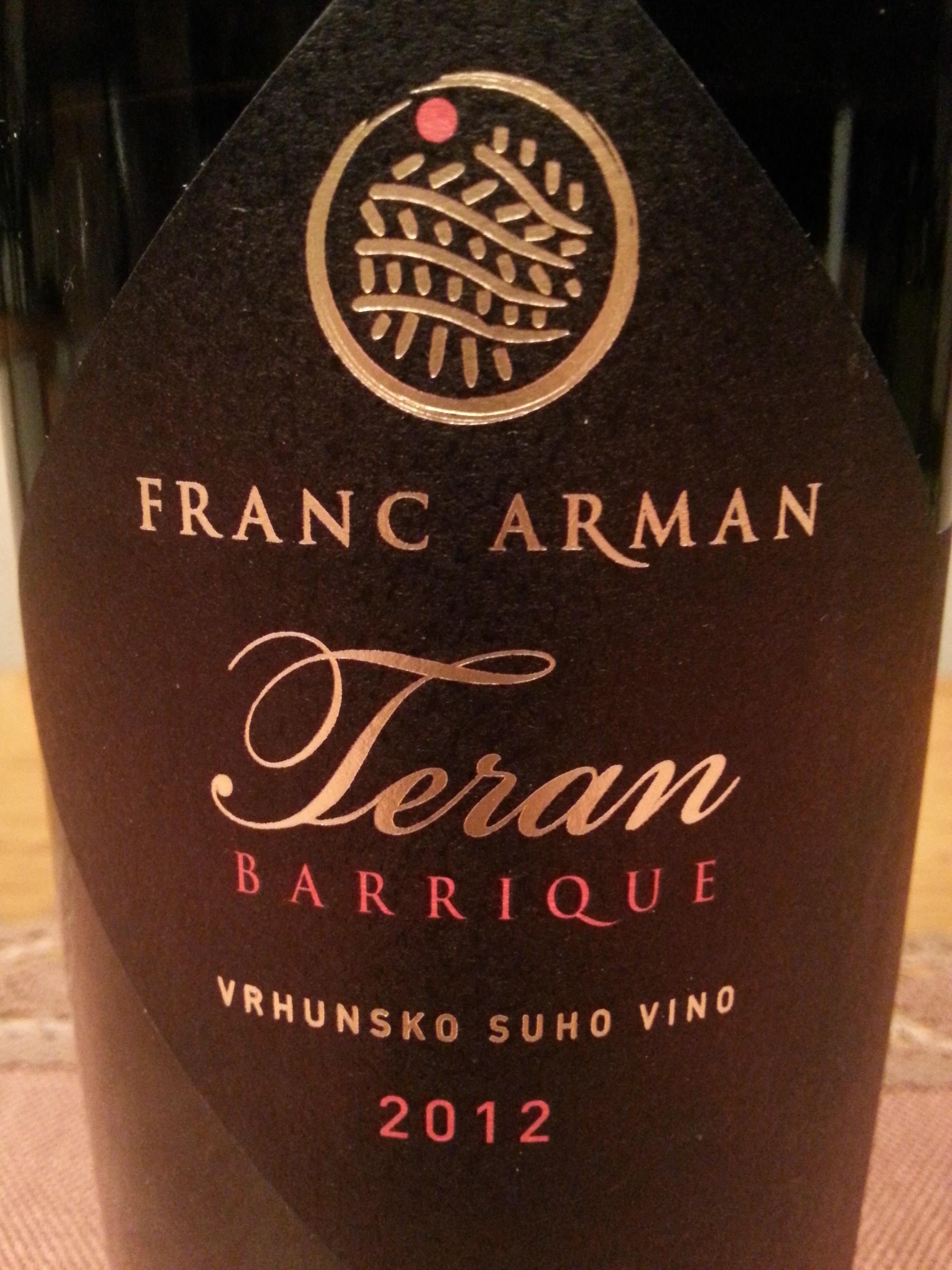 2012 Teran Barrique | Franc Arman