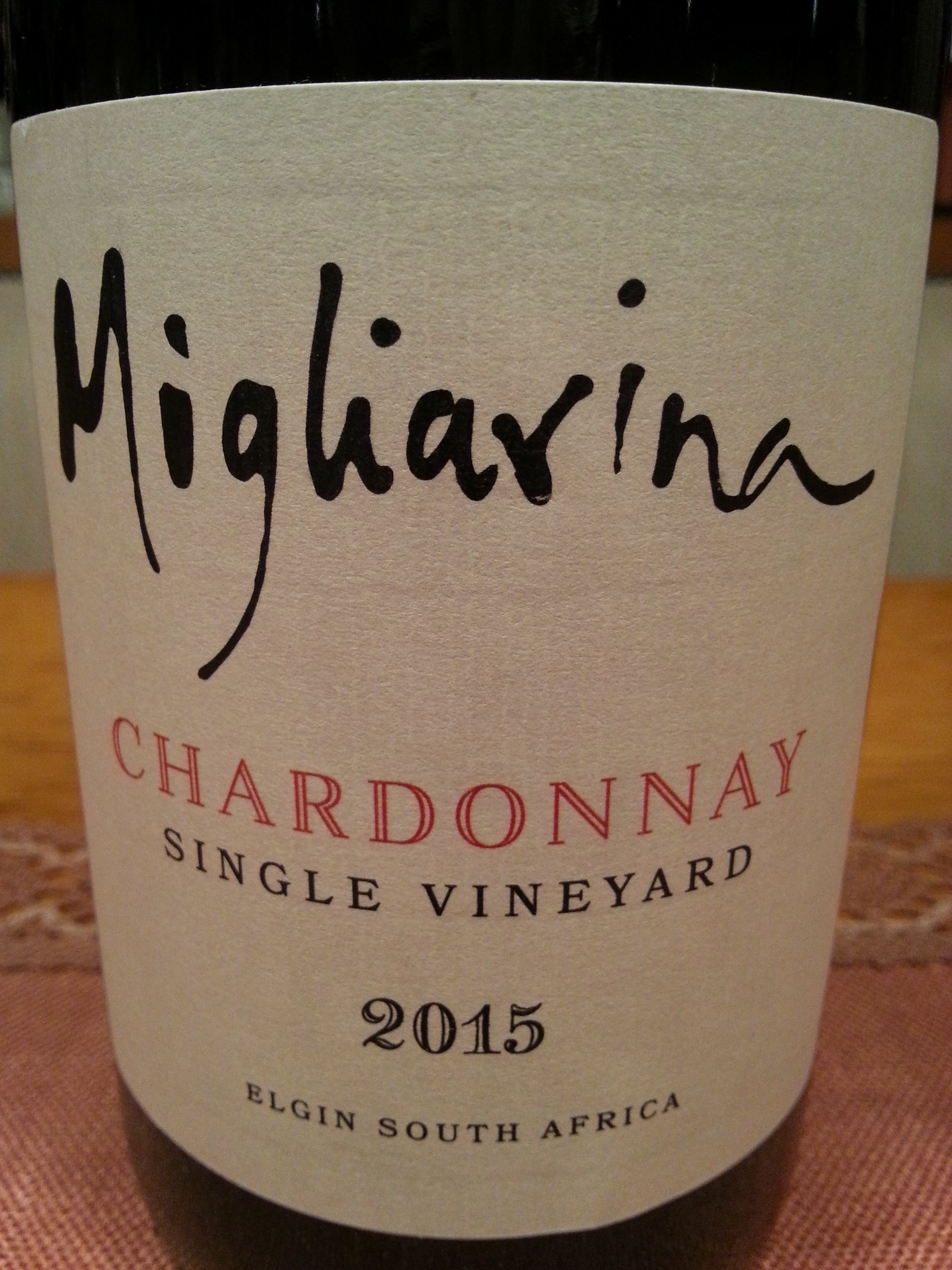 2015 Chardonnay Single Vineyard | Migliarina