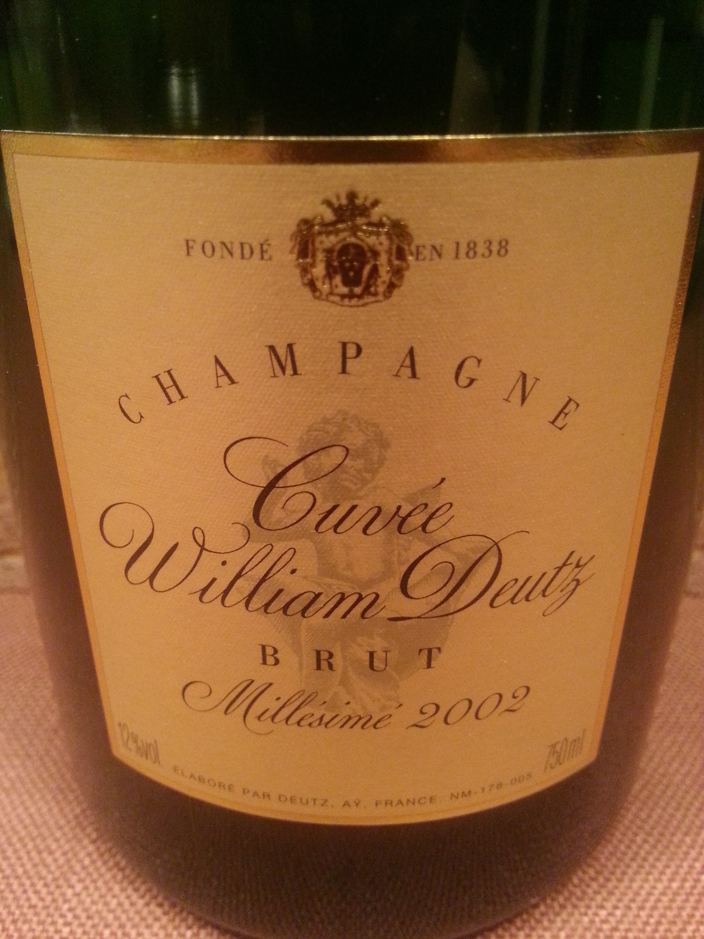 2002 Champagne Cuvée William Deutz | Deutz