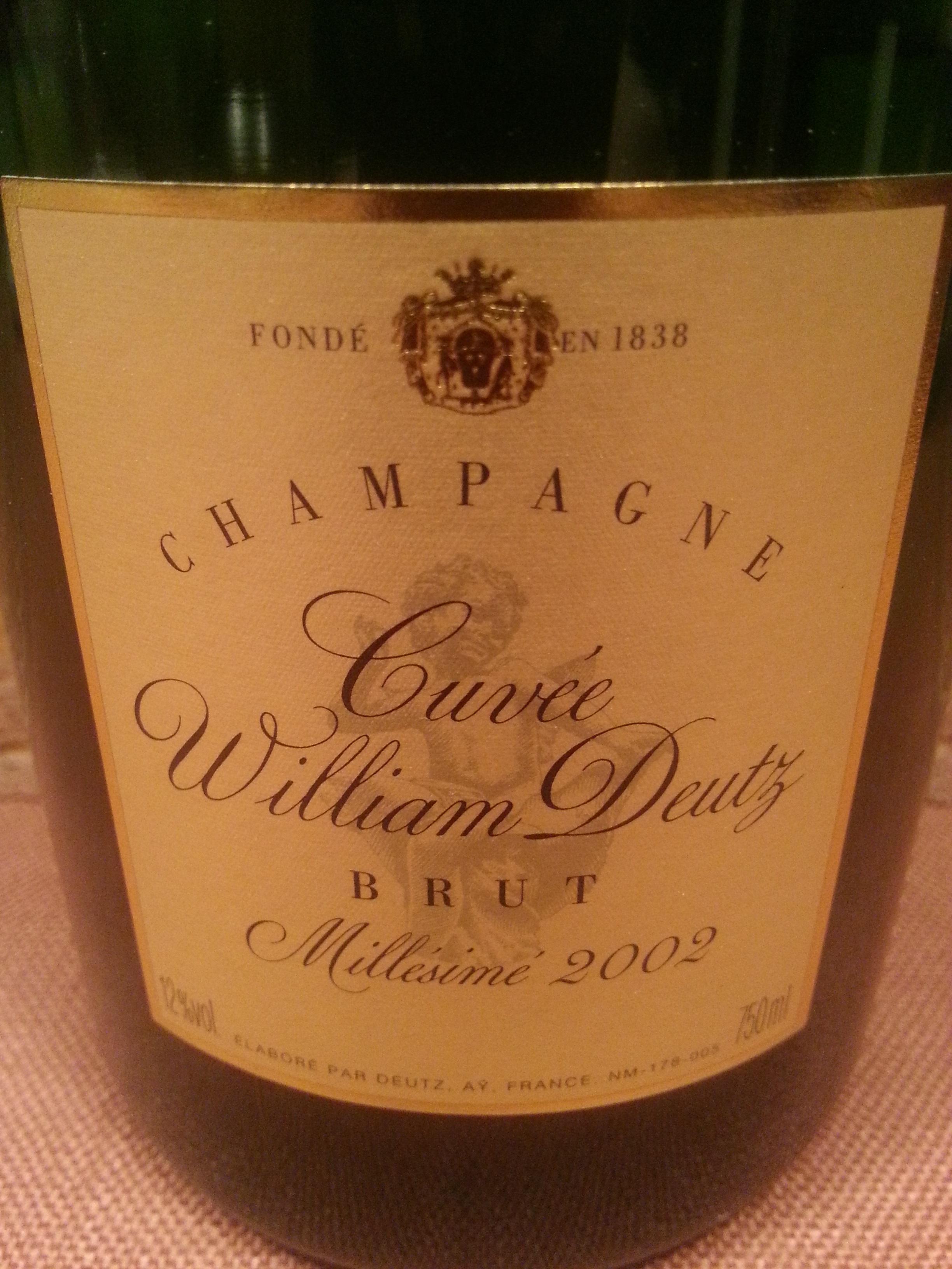 2002 Champagne Cuvée William Deutz | Deutz