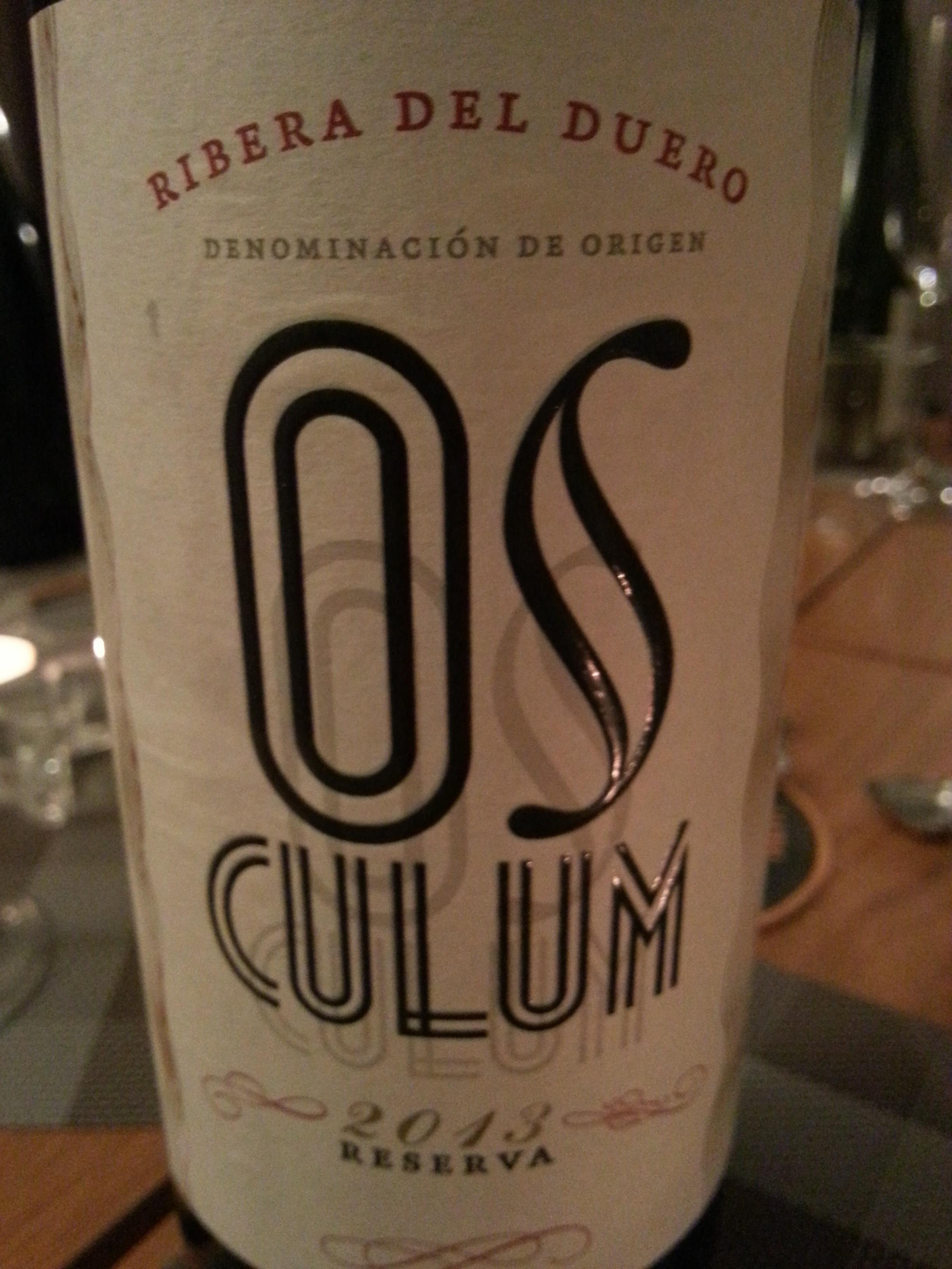 2013 Osculum Reserva | Osculum