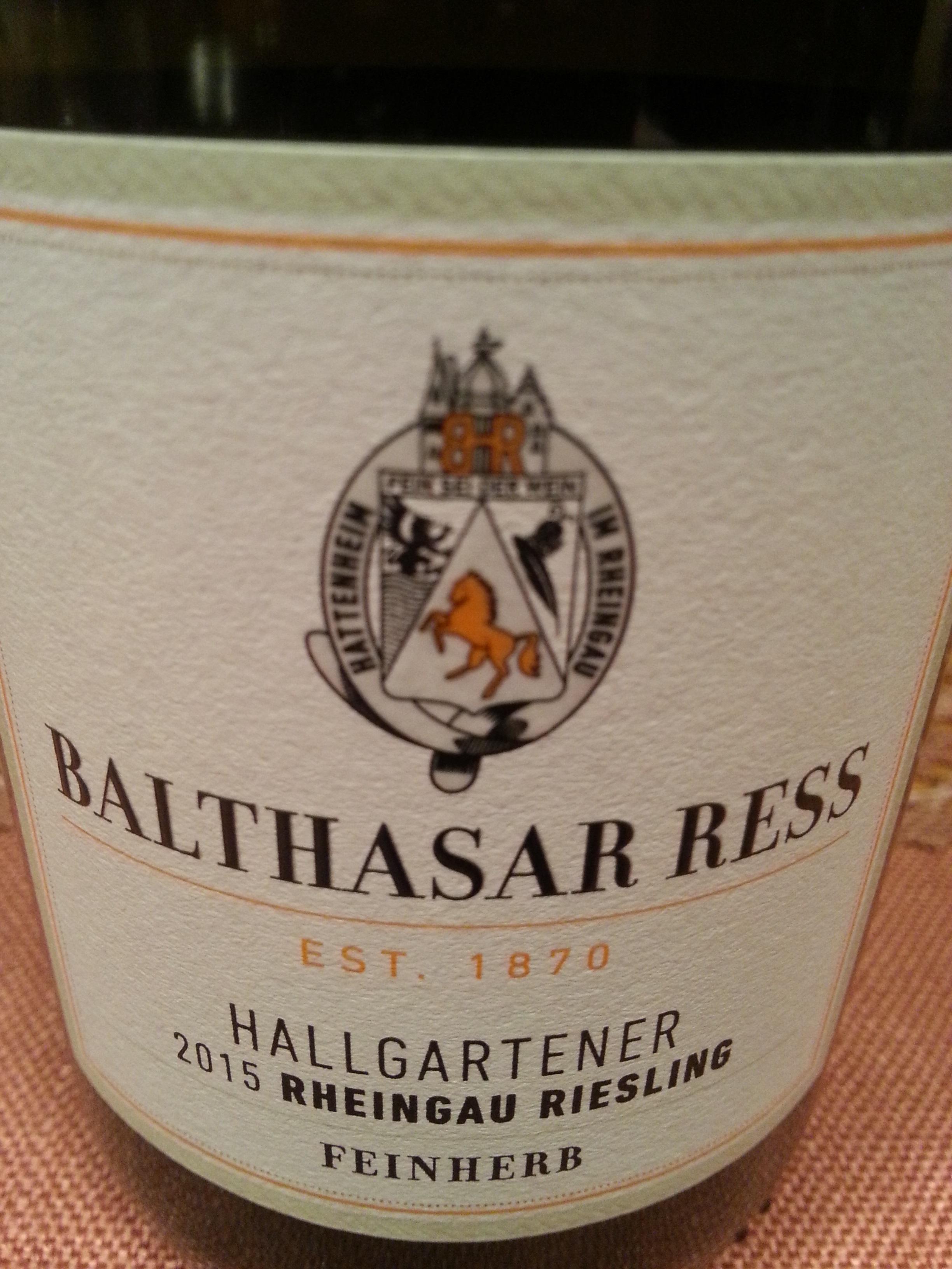 2015 Riesling Hallgartener feinherb | Balthasar Ress