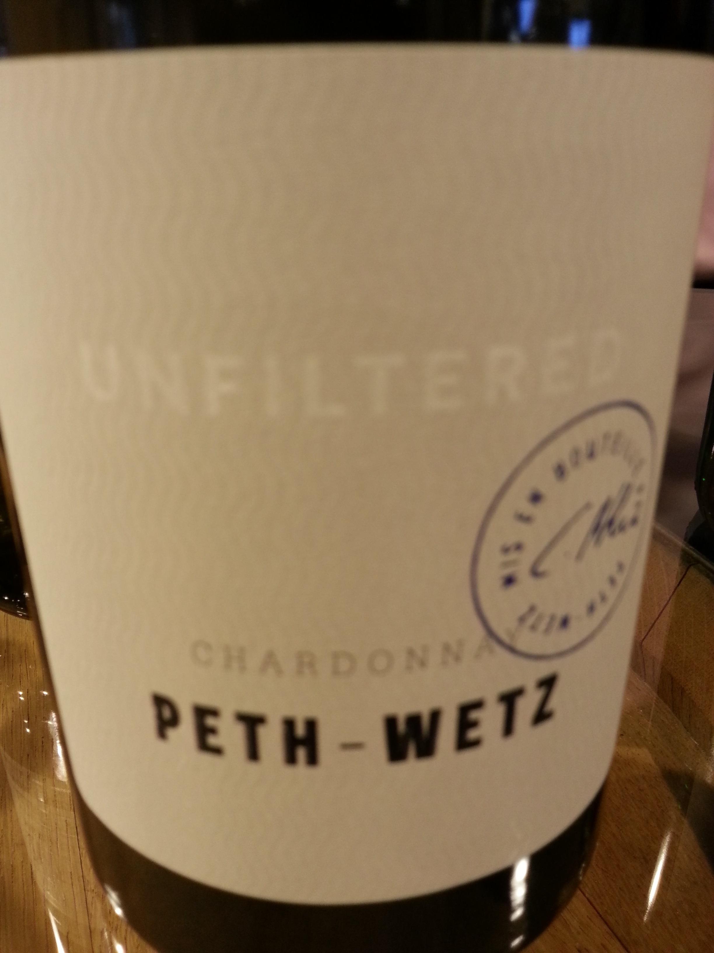 2016 Chardonnay Unfiltered | Peth-Wetz