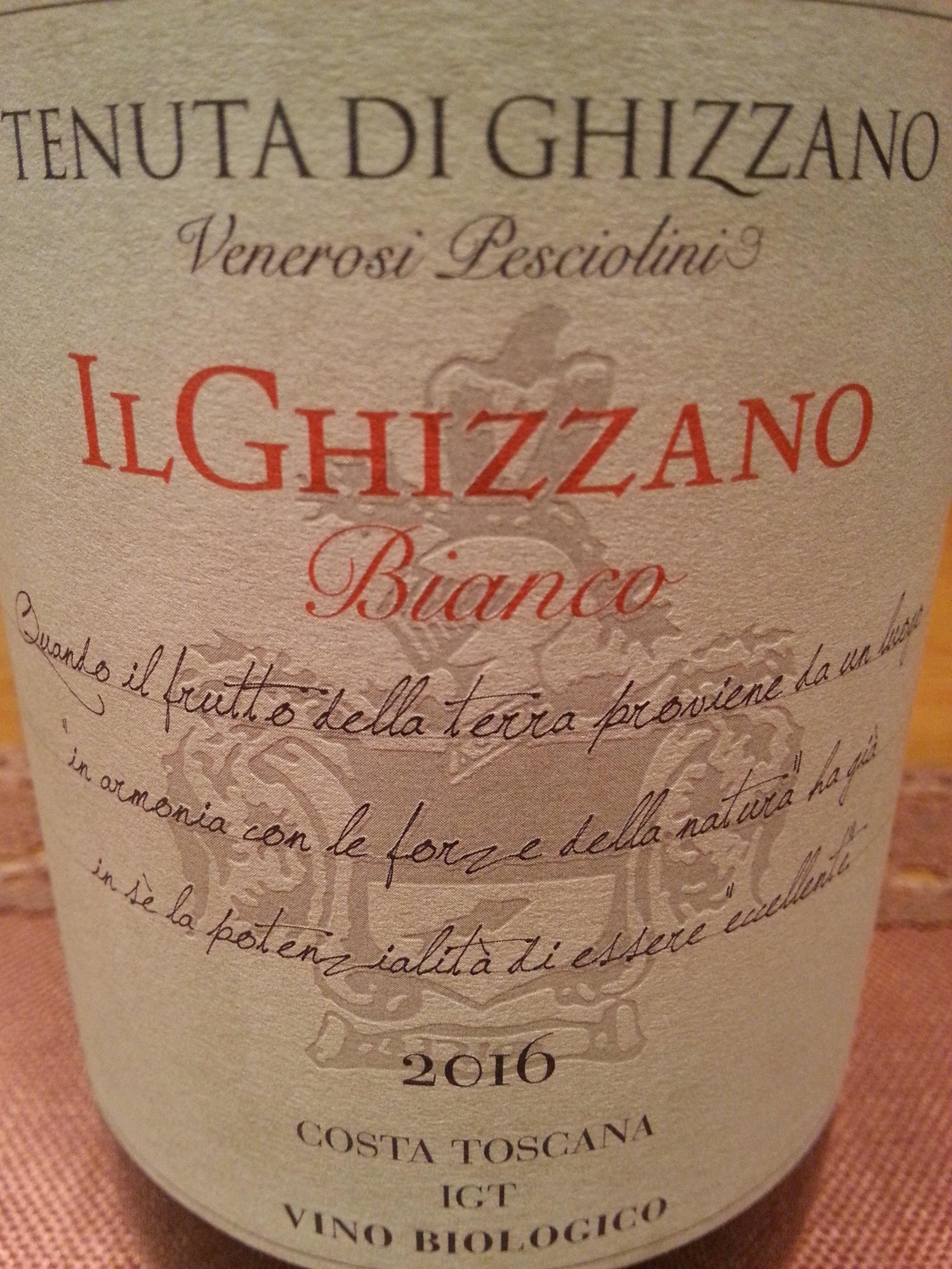 2016 Il Ghizzano Bianco | Tenuta di Ghizzano