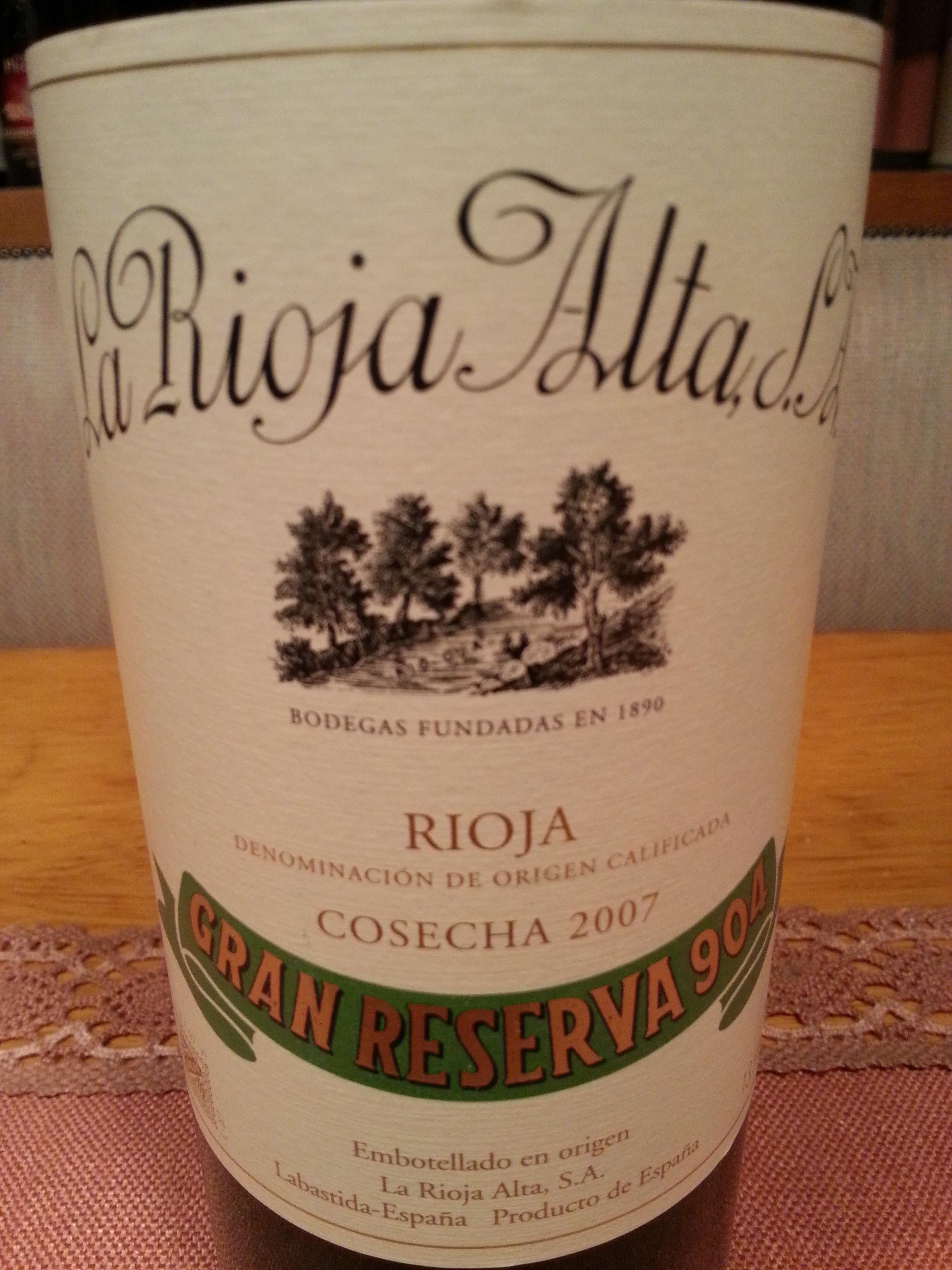 2007 La Rioja Alta Gran Reserva 904 | La Rioja Alta
