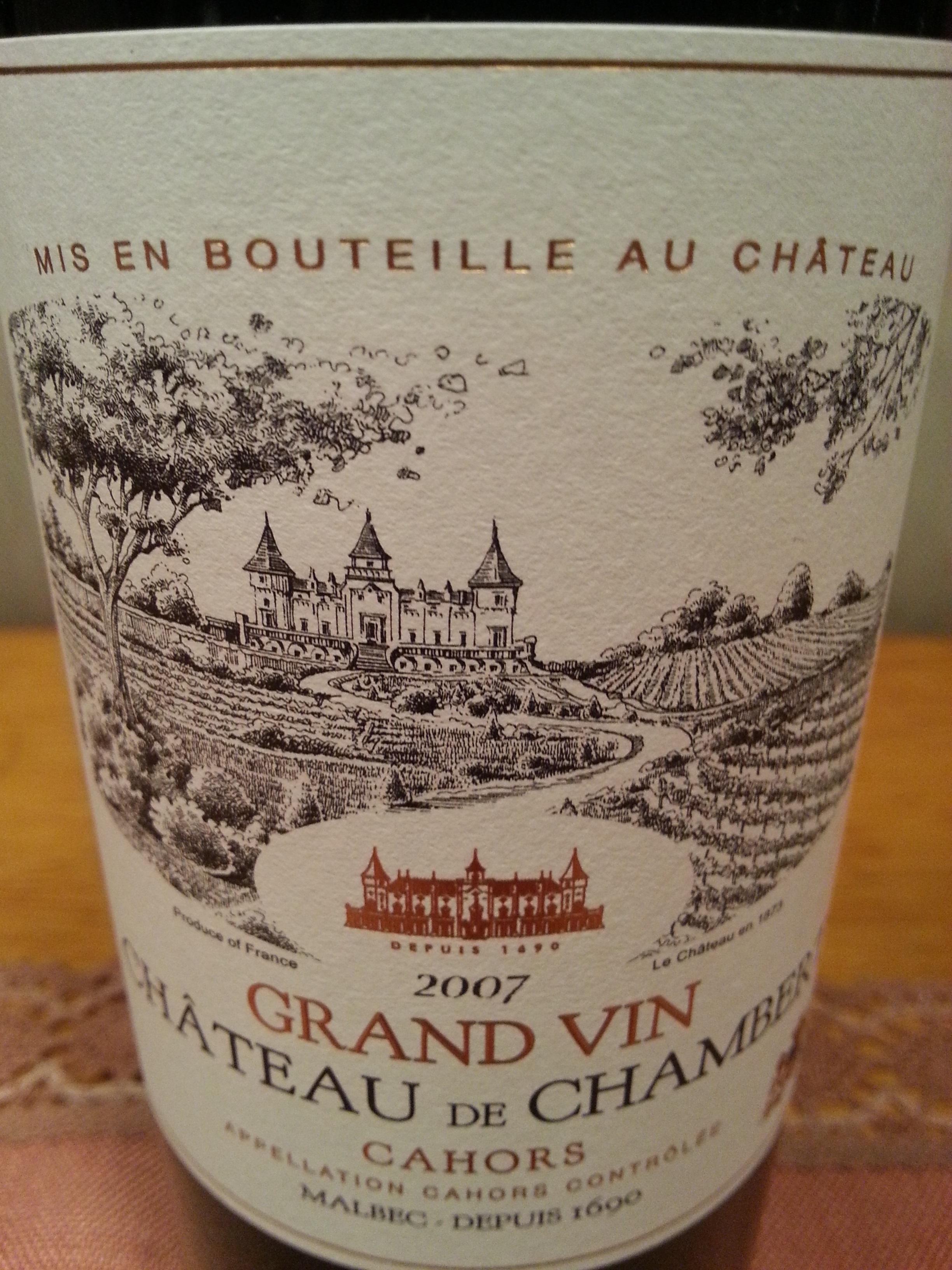 2007 Grand Vin | Château de Chambert