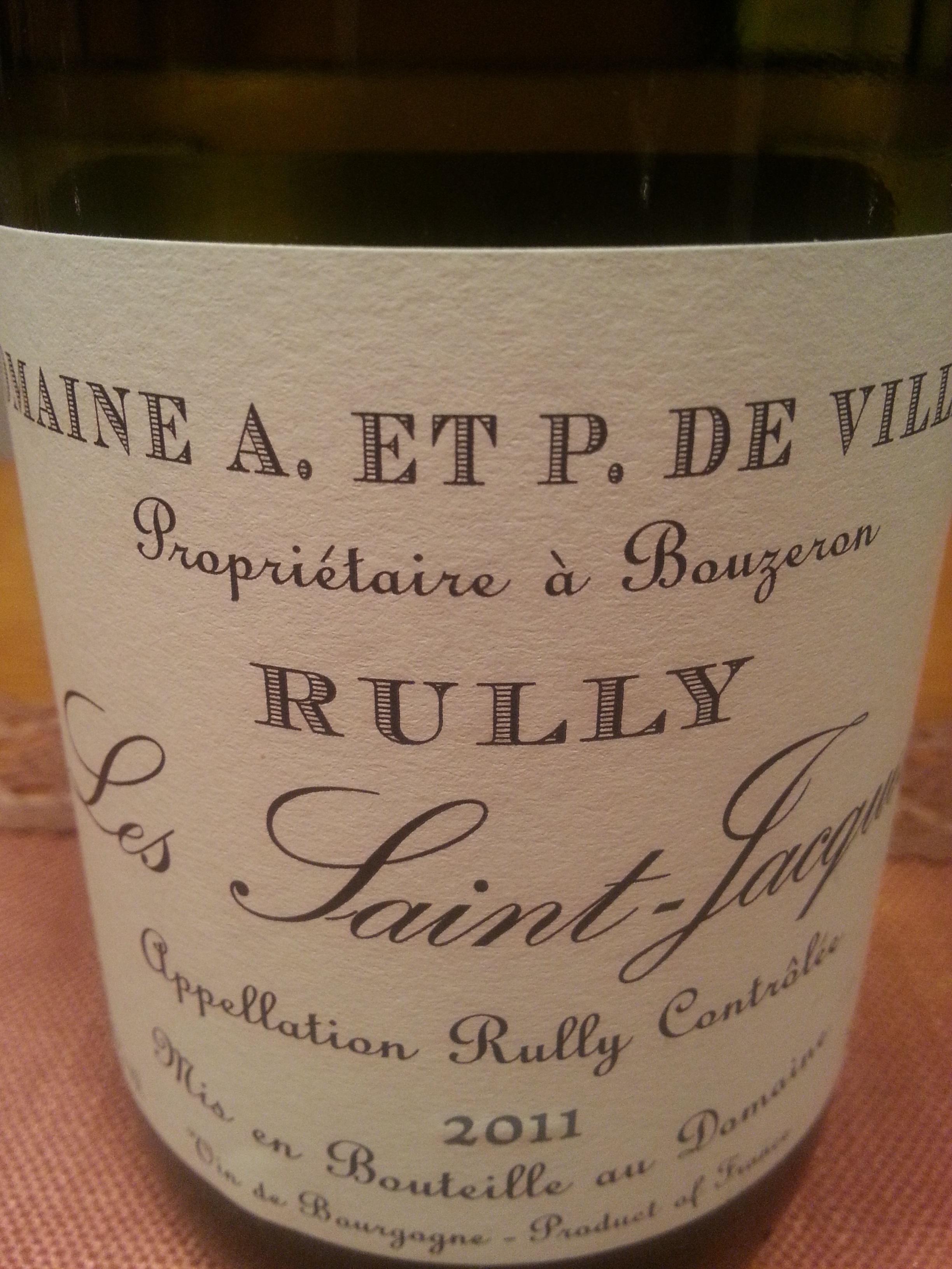 2011 Rully Les Saint-Jacques | de Villaine