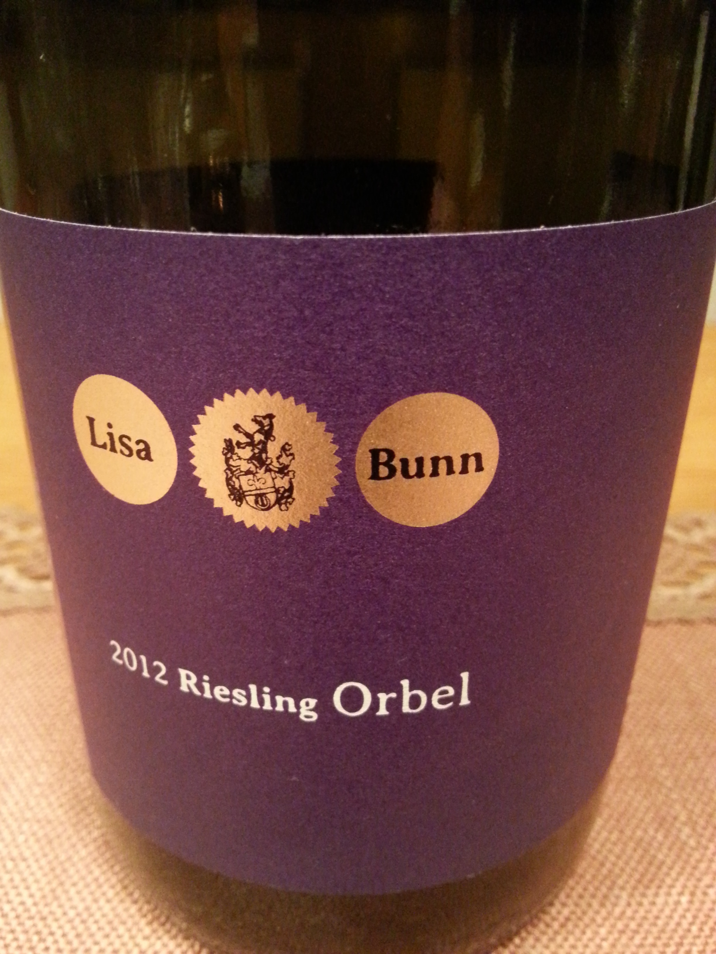 2012 Riesling Orbel | Bunn