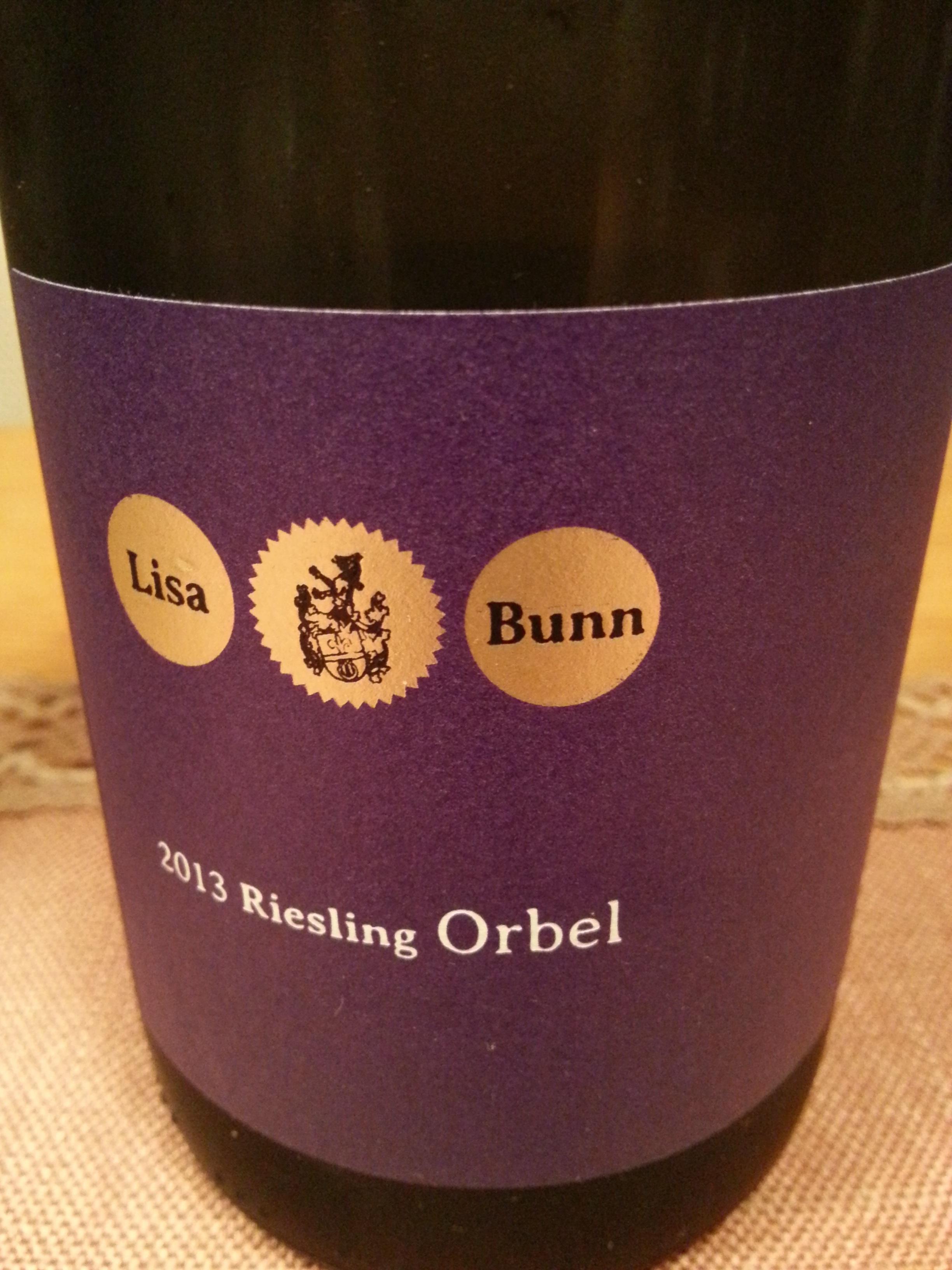 2013 Riesling Orbel | Bunn