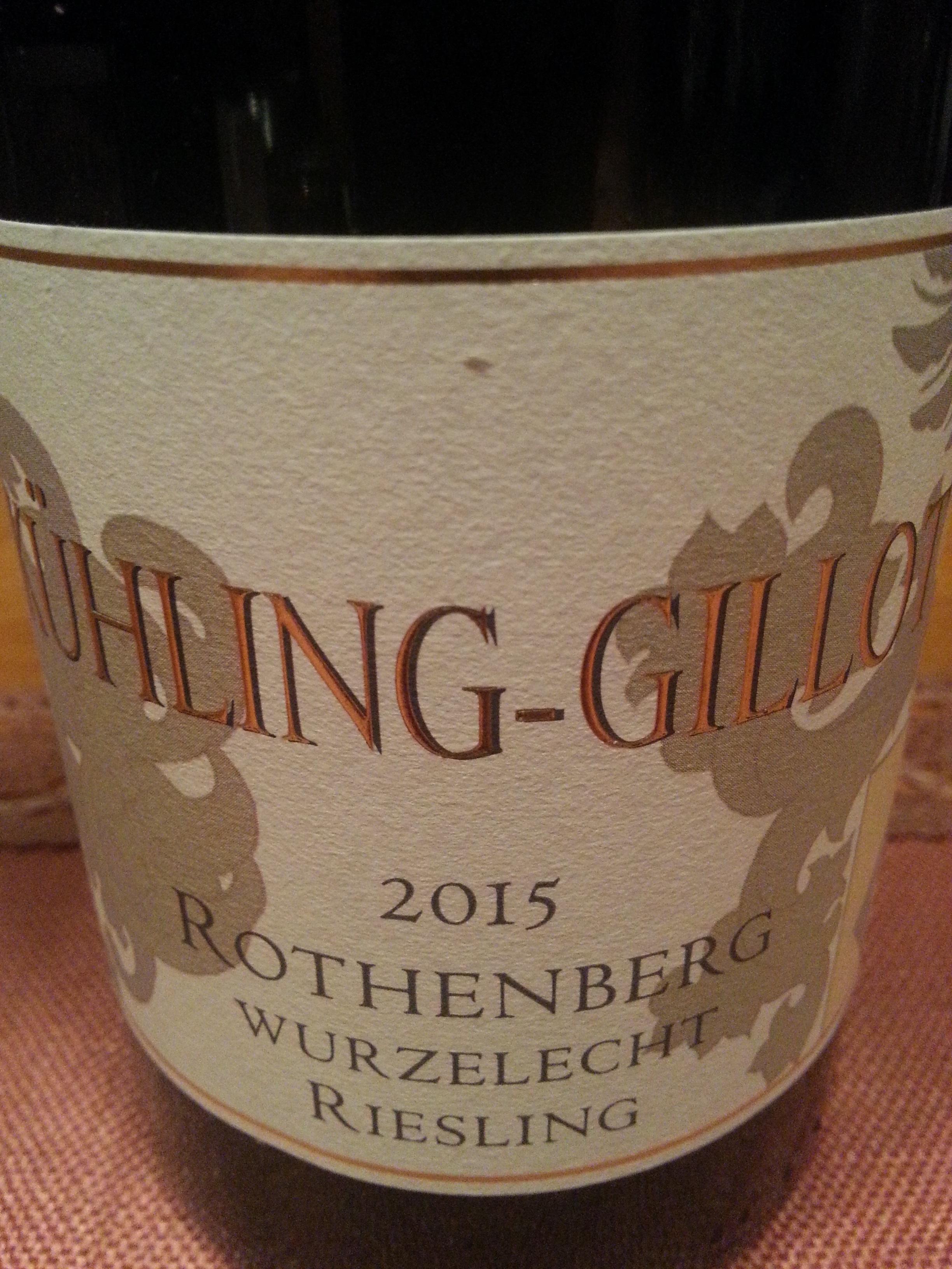 2015 Riesling Rothenberg Wurzelecht GG | Kühling-Gillot
