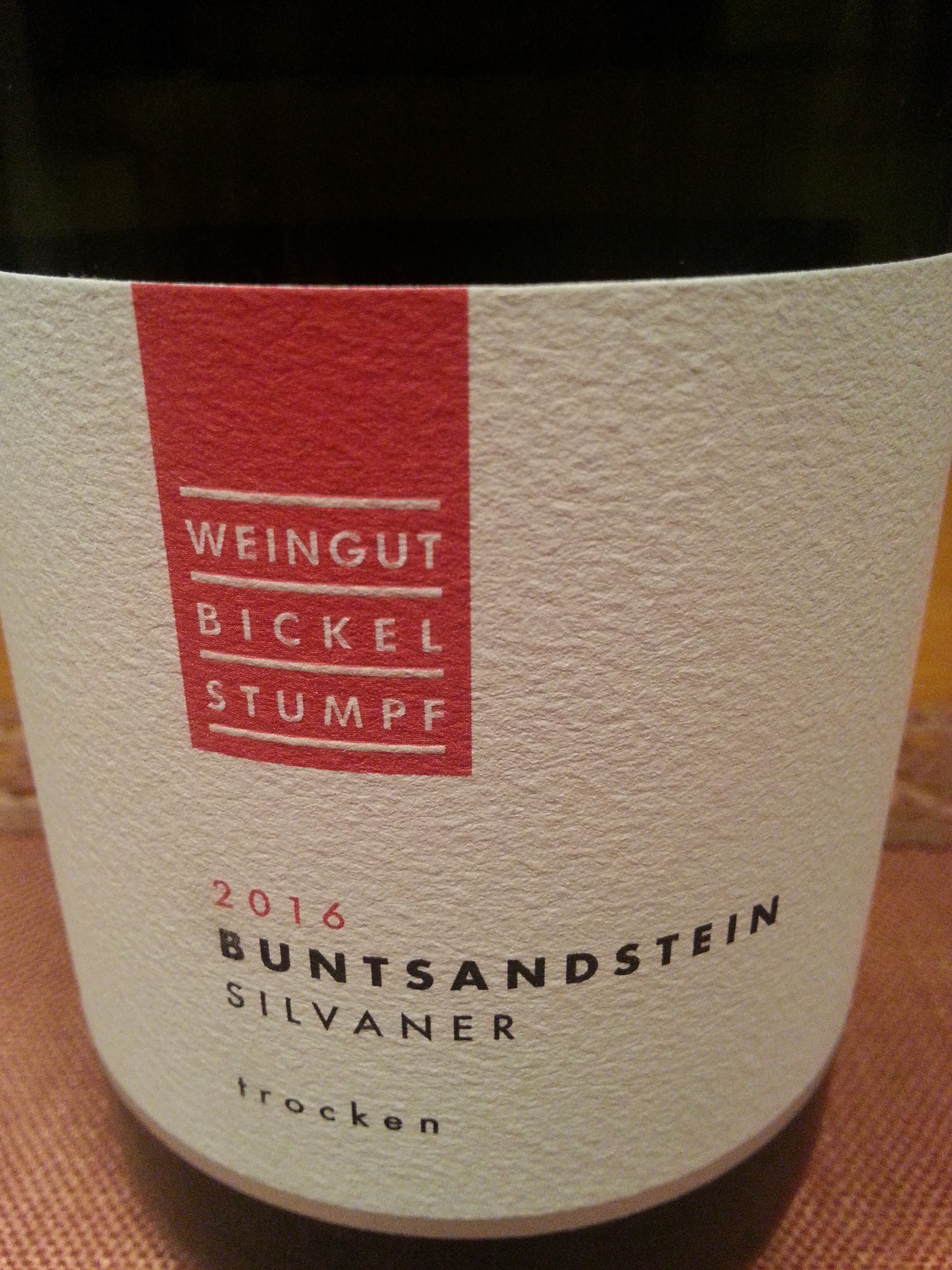 2016 Silvaner Buntsandstein | Bickel-Stumpf