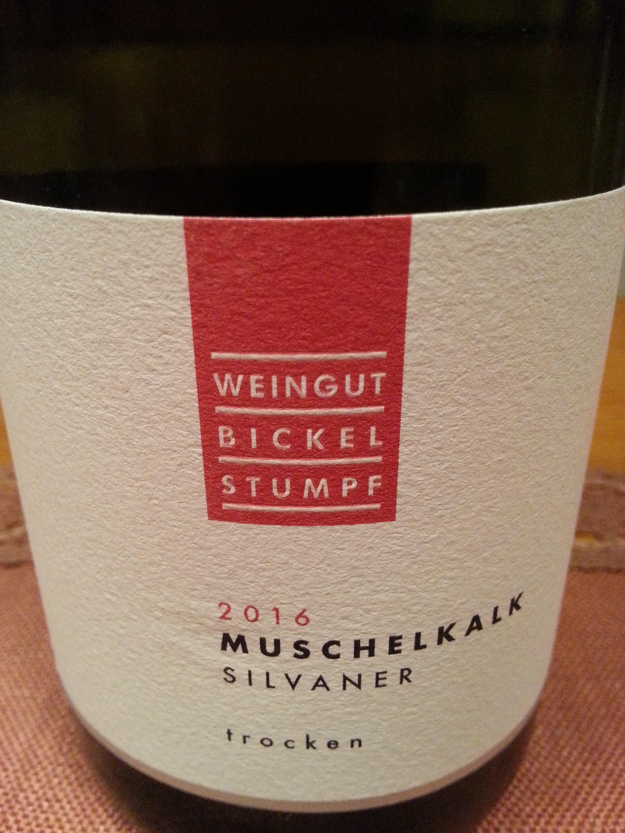 2016 Silvaner Muschelkalk | Bickel-Stumpf