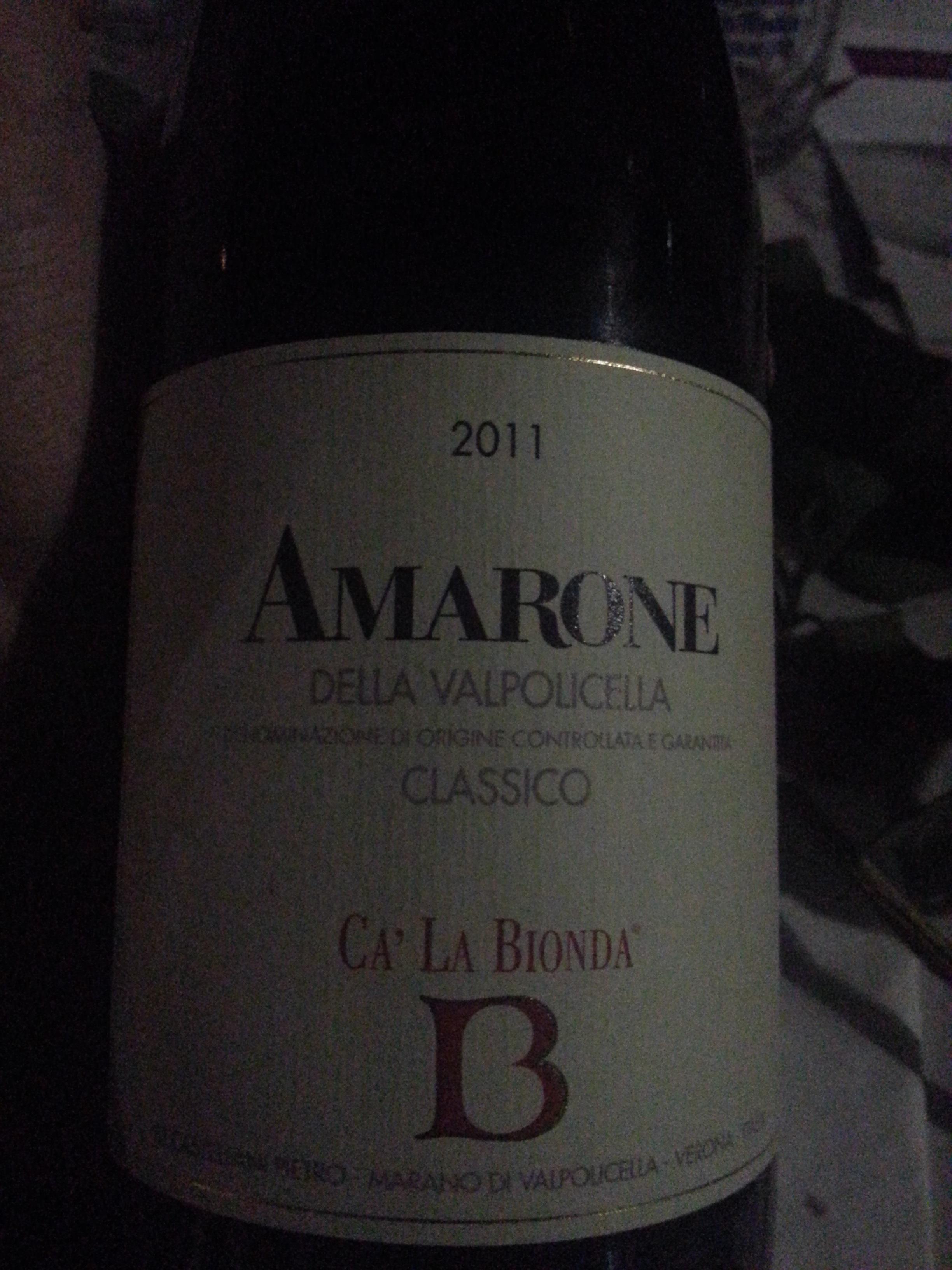 2011 Amarone | Ca' La Bionda