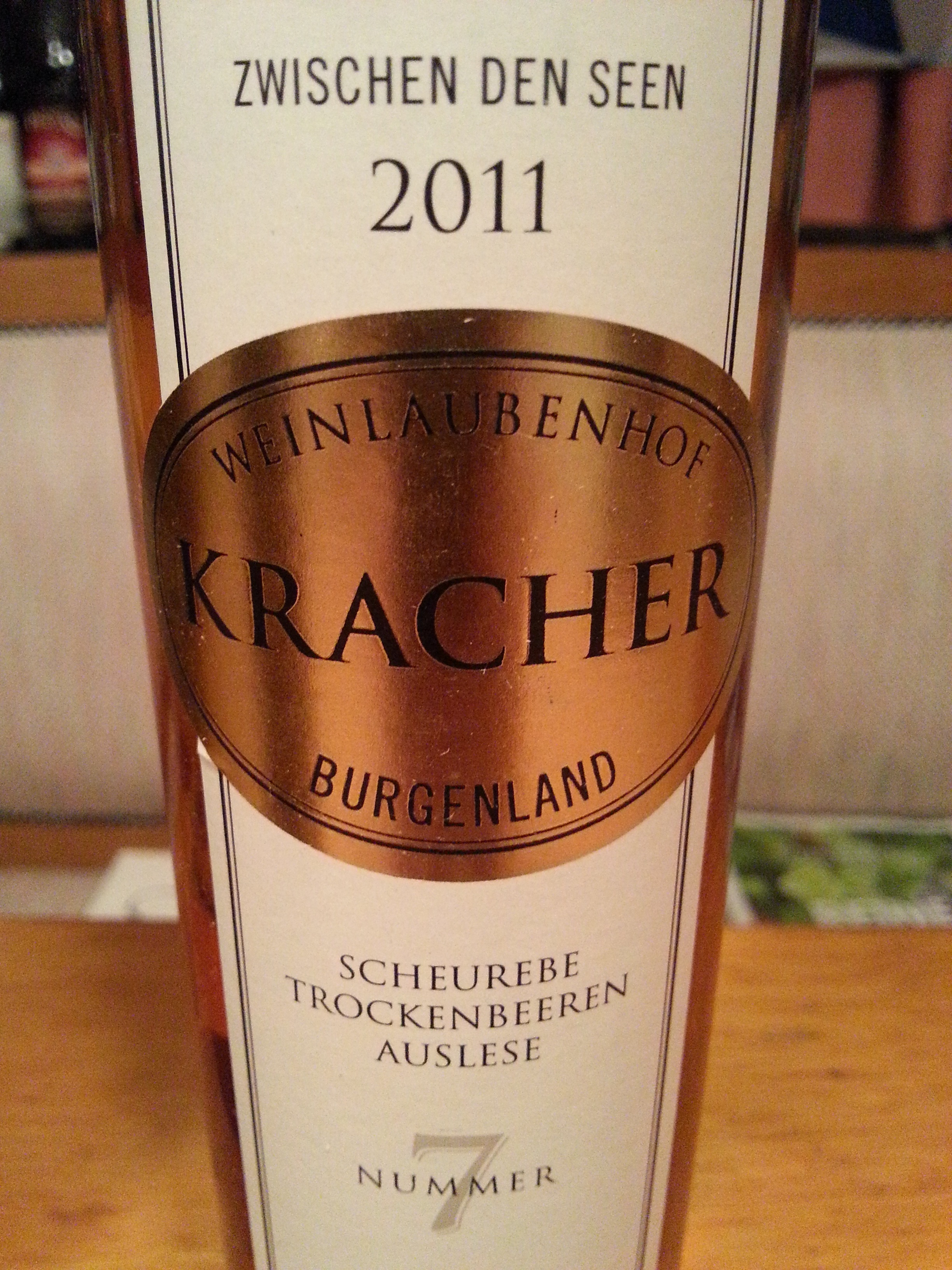2011 Scheurebe TBA No. 7 | Kracher