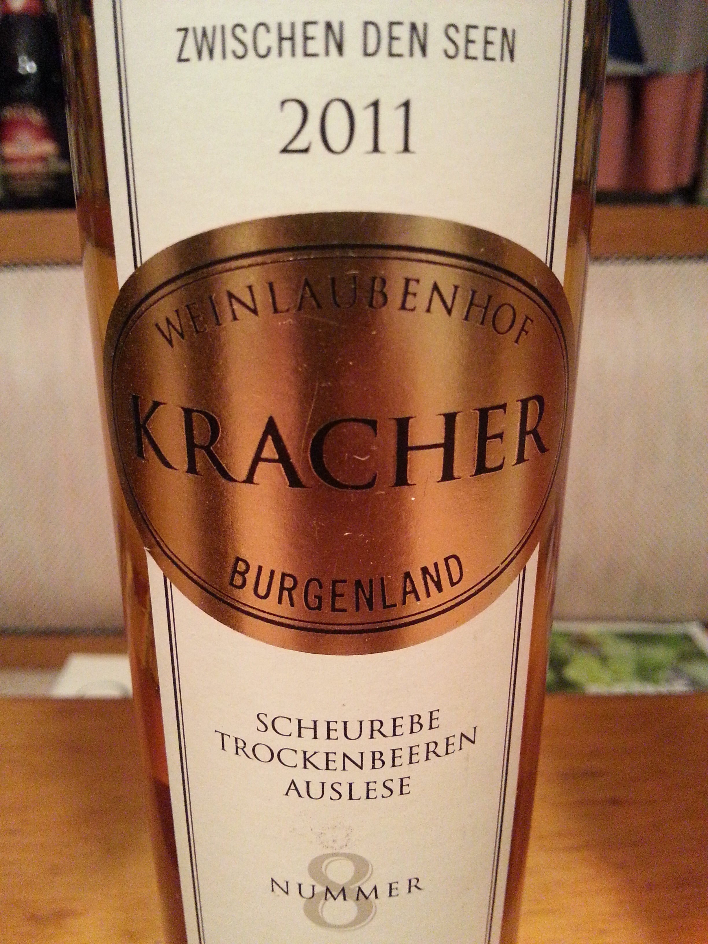 2011 Scheurebe TBA No. 8 | Kracher