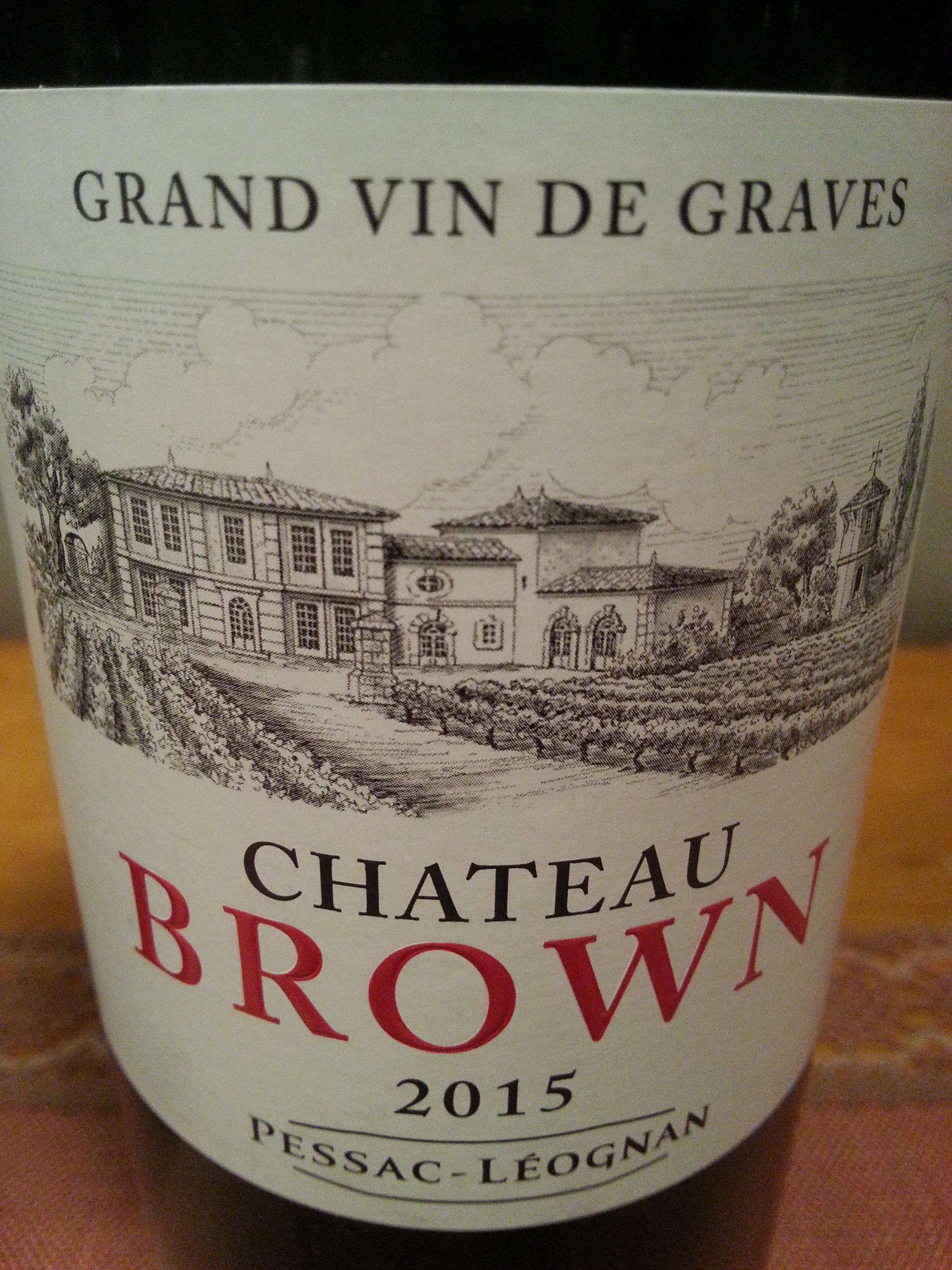 2015 Château Brown rouge | Château Brown