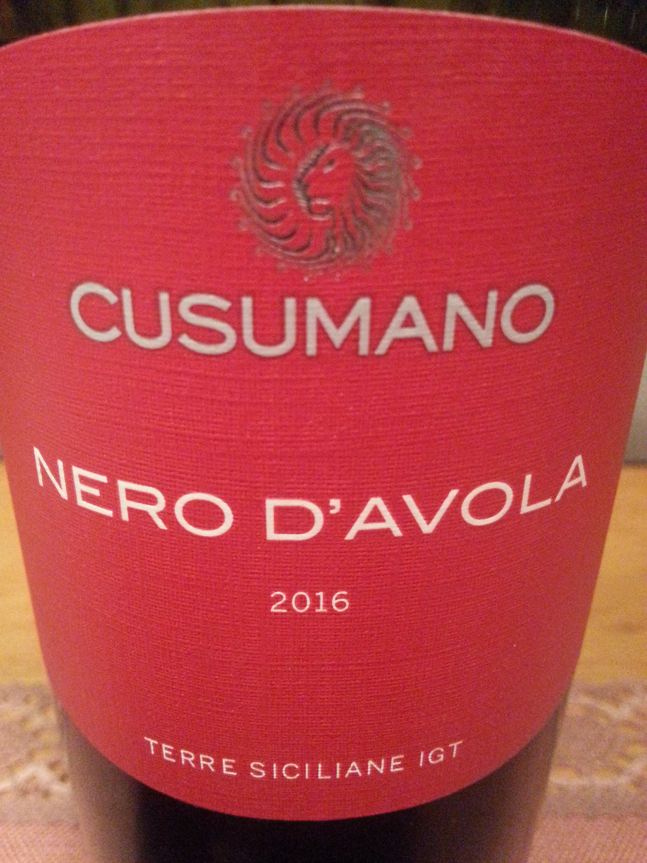 2016 Nero d'Avola | Cusumano