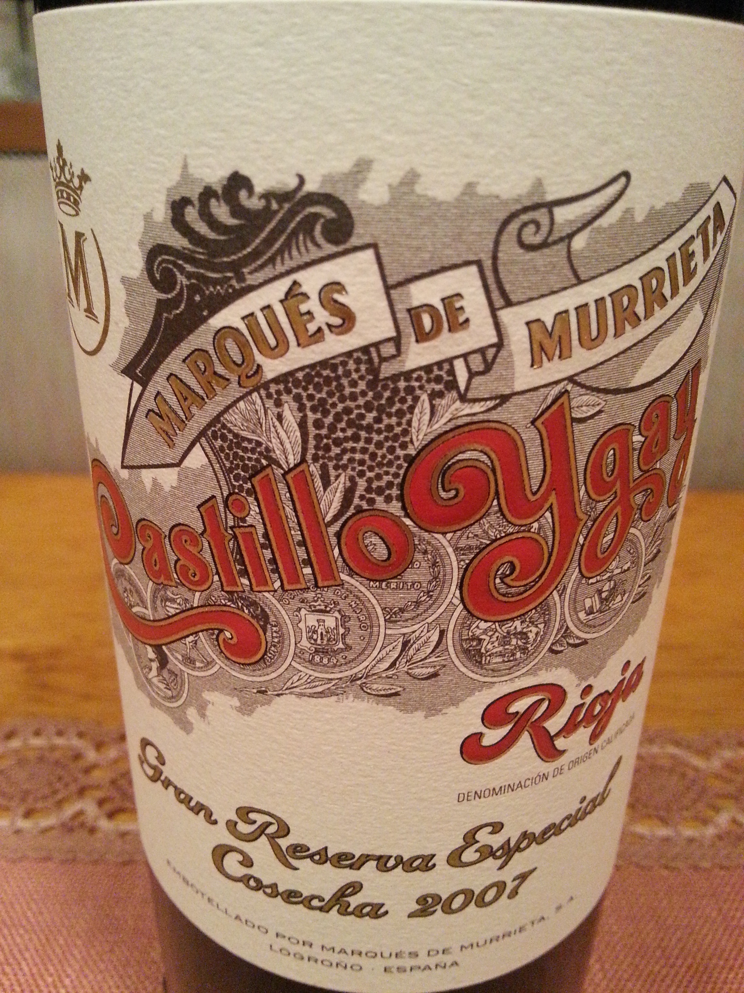 2007 Ygay Gran Reserva Especial | Marqués de Murrieta