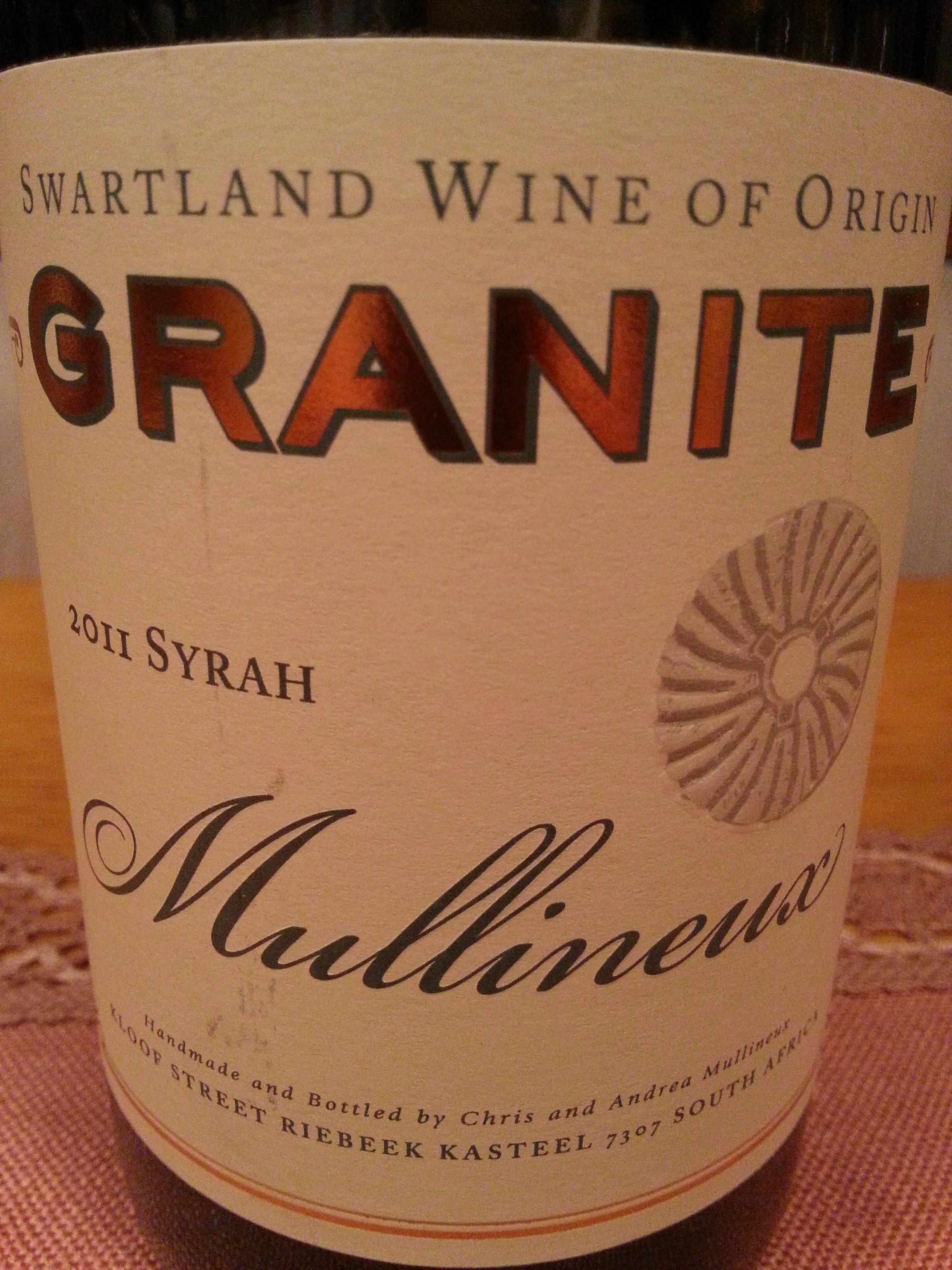 2011 Syrah Granite | Mullineux