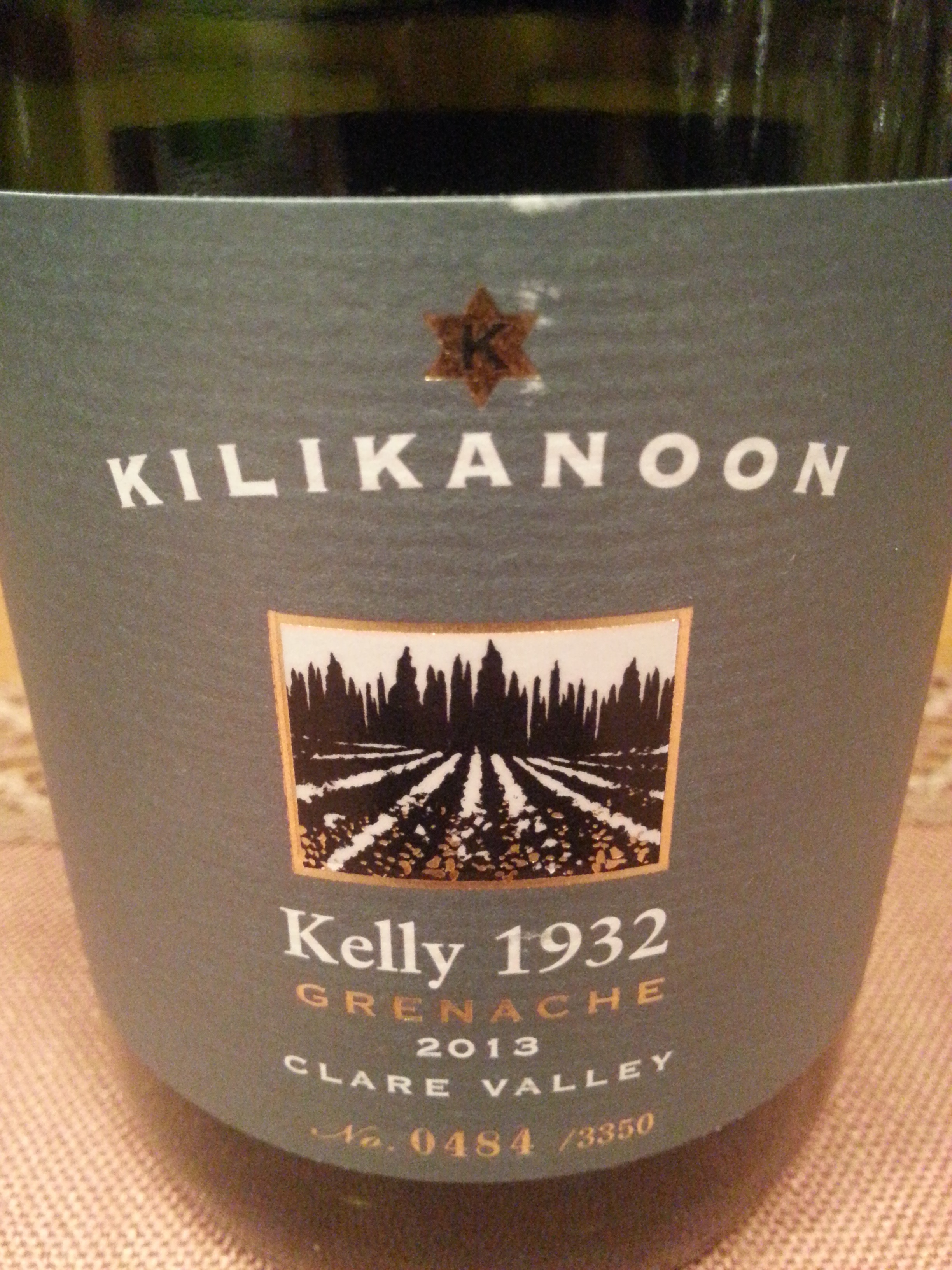 2013 Grenache Kelly 1932   Kilikanoon