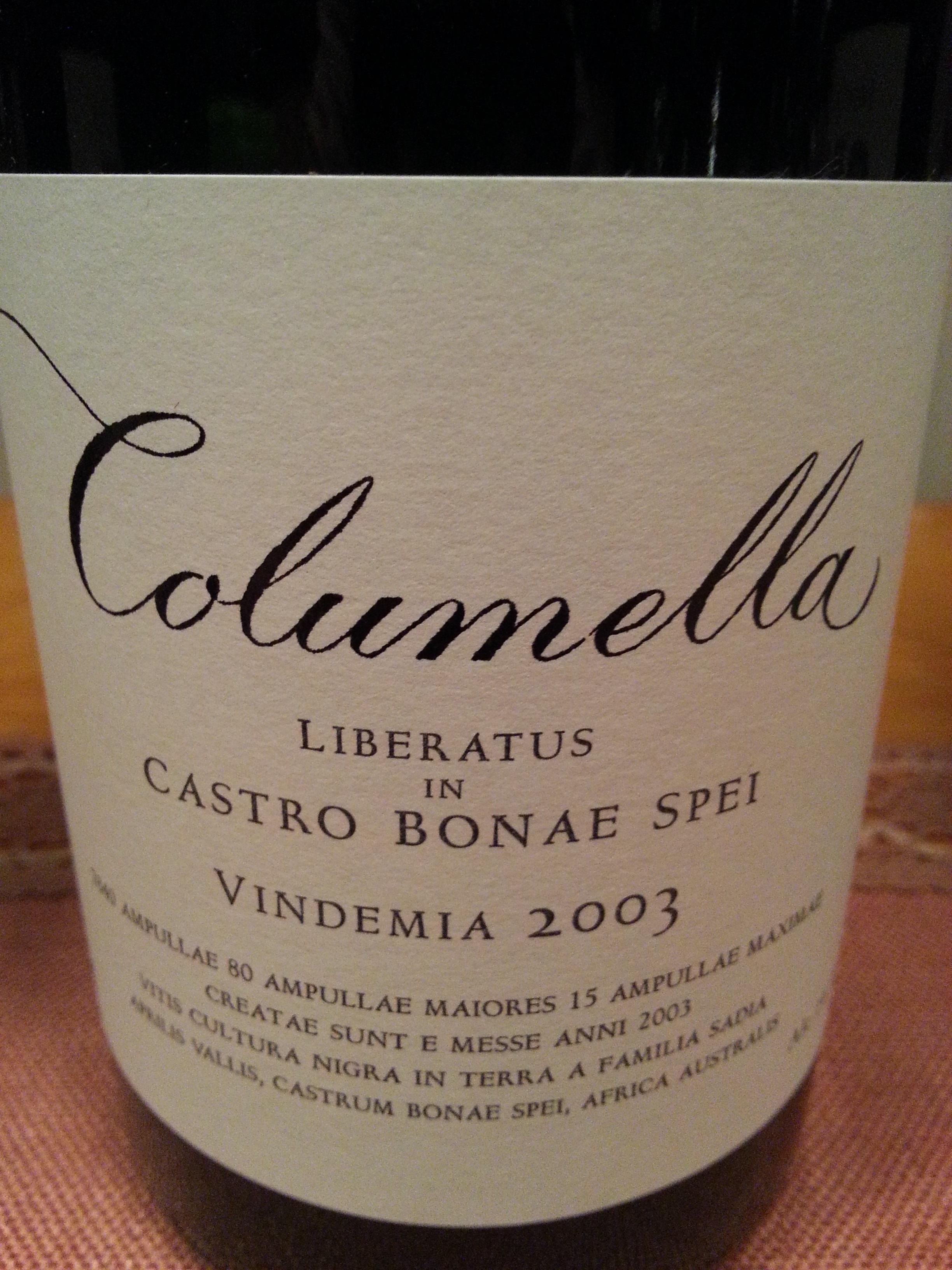 2003 Columella | Sadie