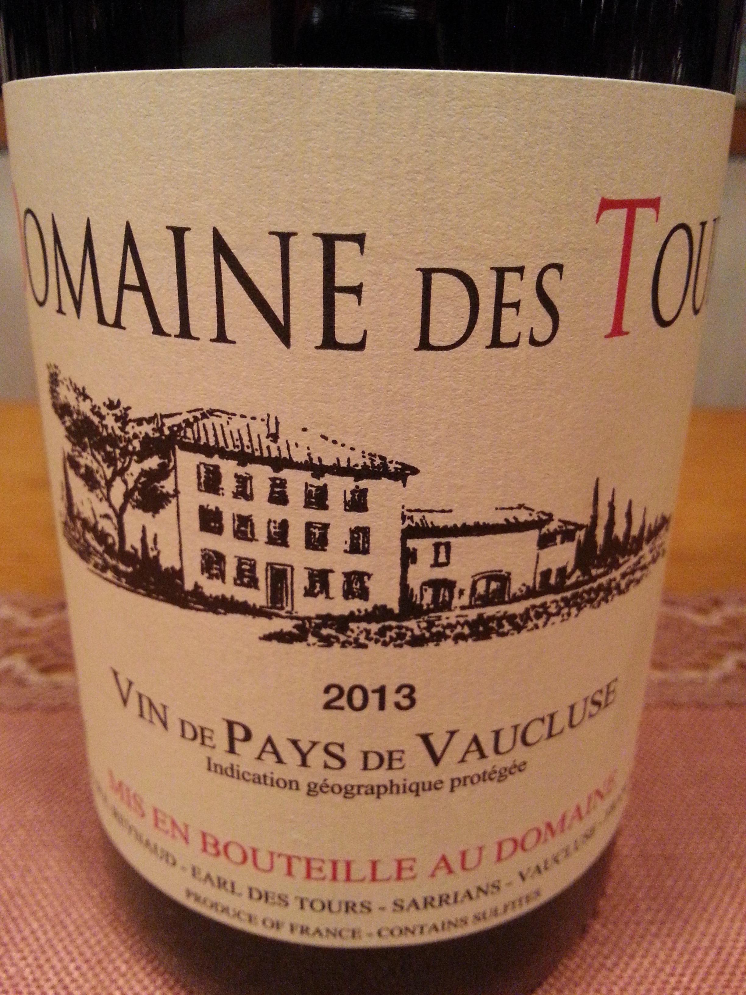 2013 Domaine des Tours Vaucluse | Domaine des Tours