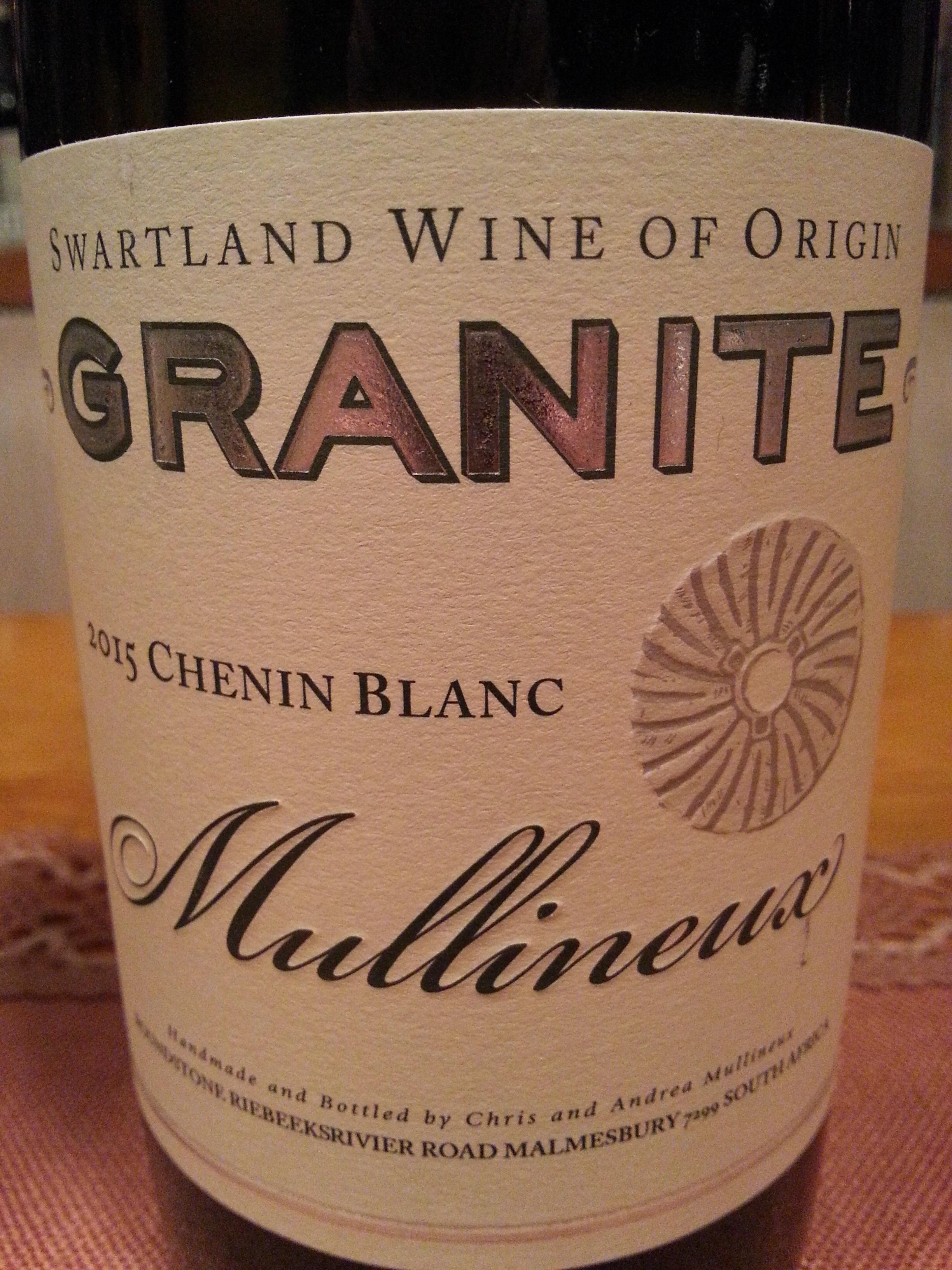 2015 Chenin Blanc Granite | Mullineux