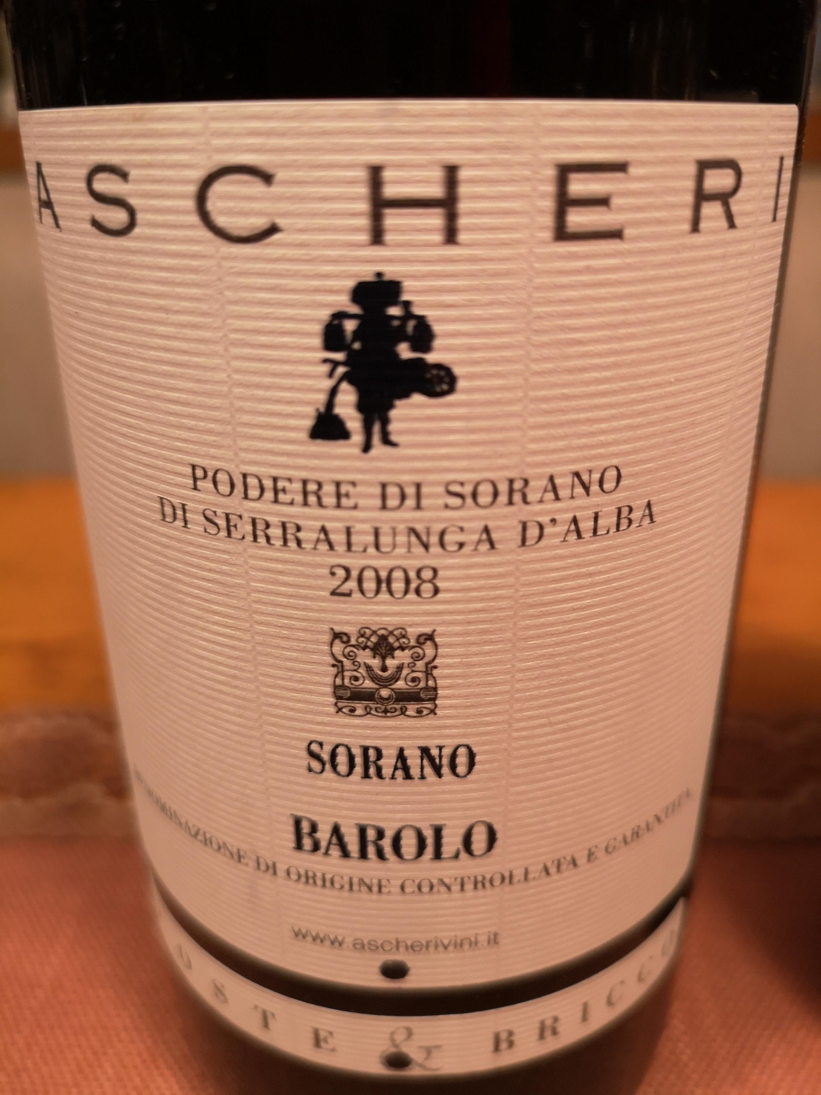 2008 Barolo Sorano Coste & Bricce | Ascheri
