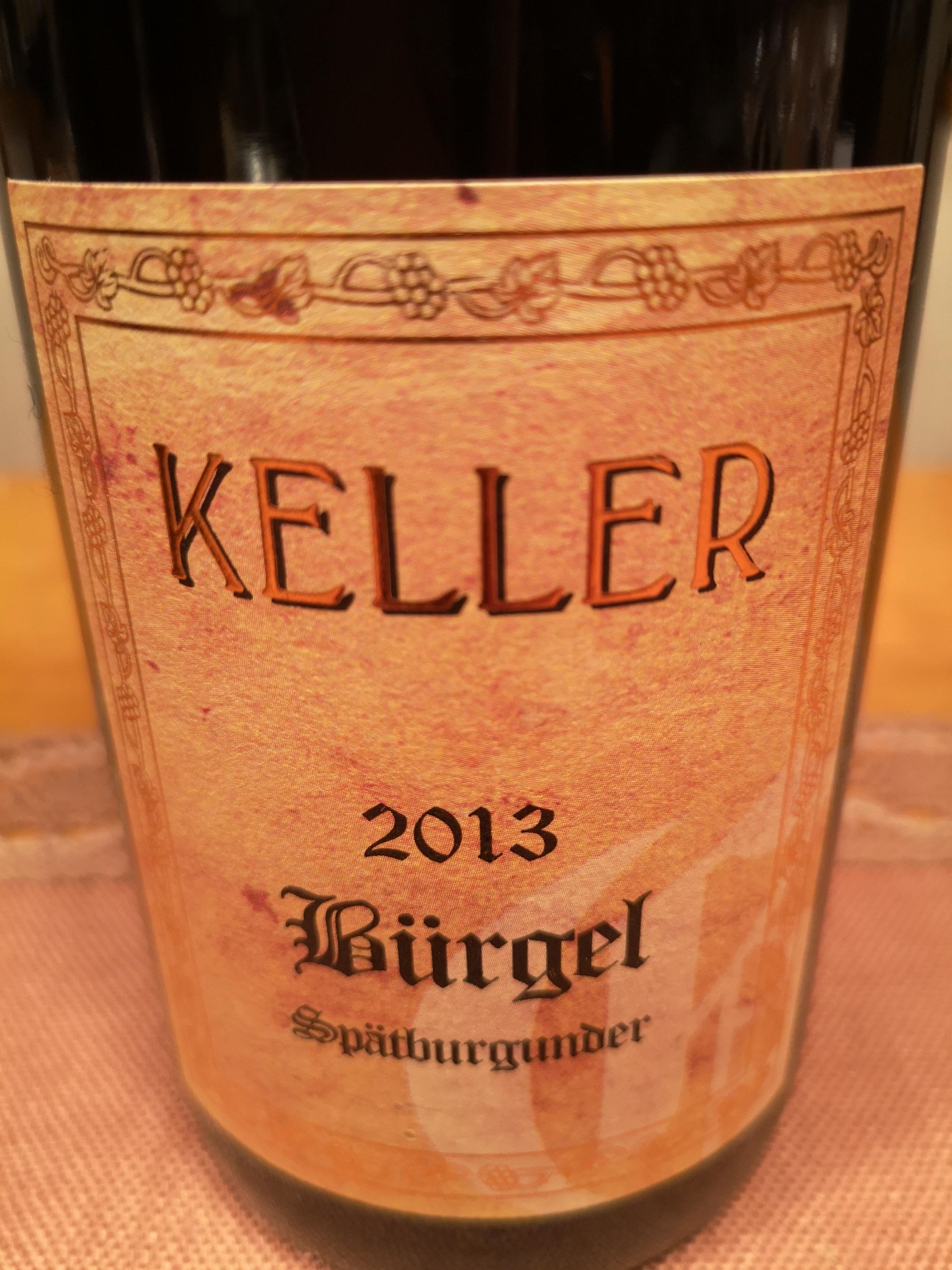 2013 Spätburgunder Bürgel GG   Keller
