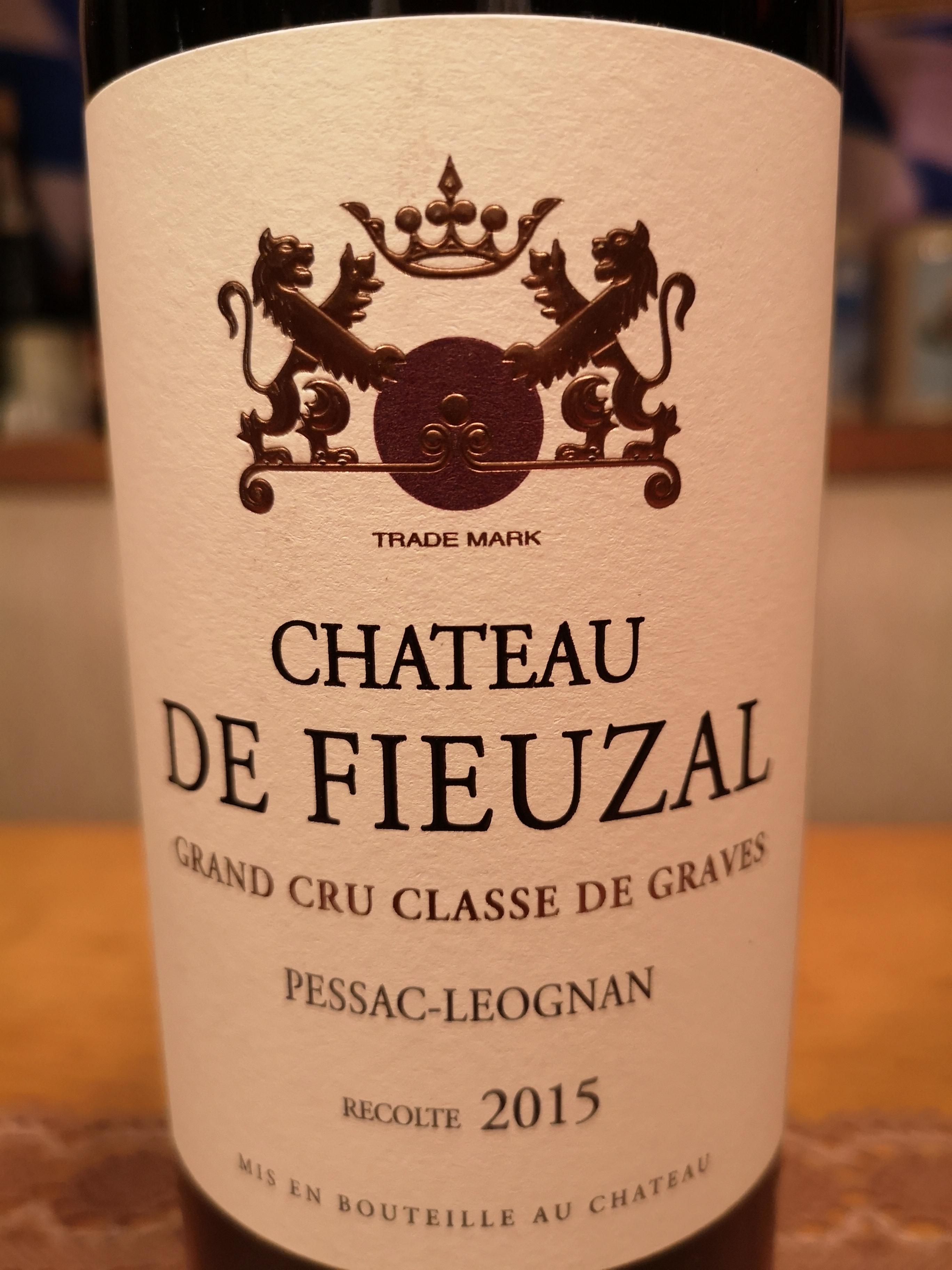 2015 Château de Fieuzal rouge | Château de Fieuzal