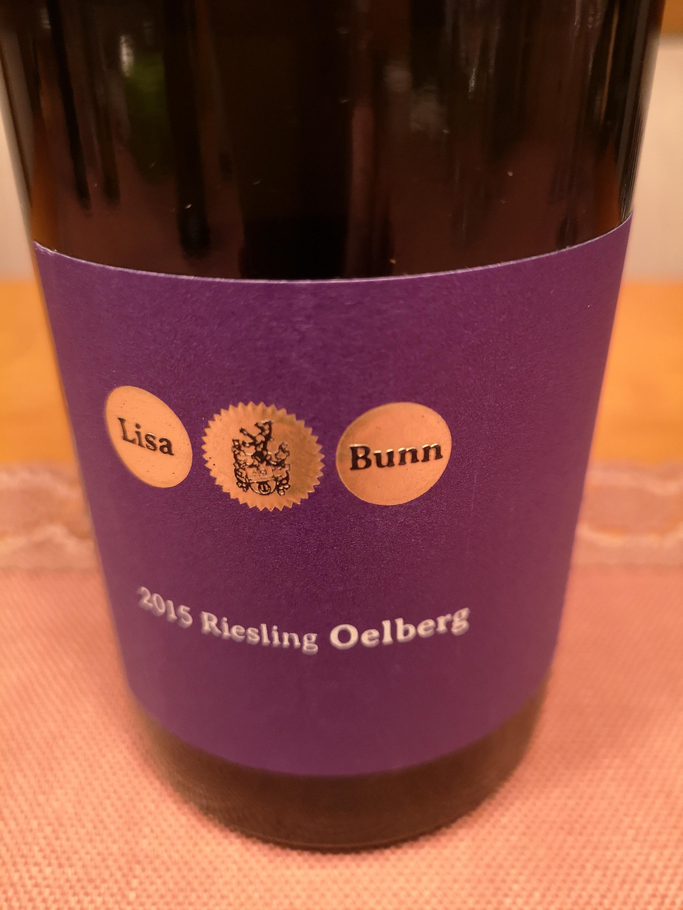 2015 Riesling Oelberg   Lisa Bunn