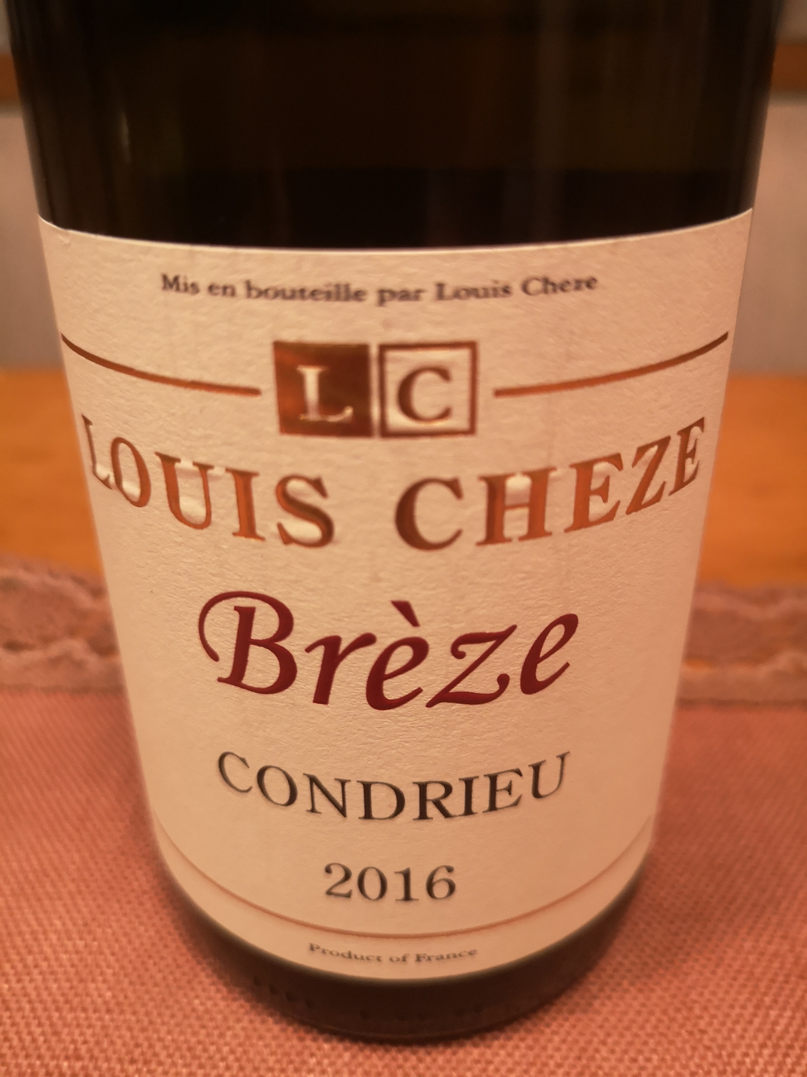 2016 Brèze Condrieu | Louis Cheze