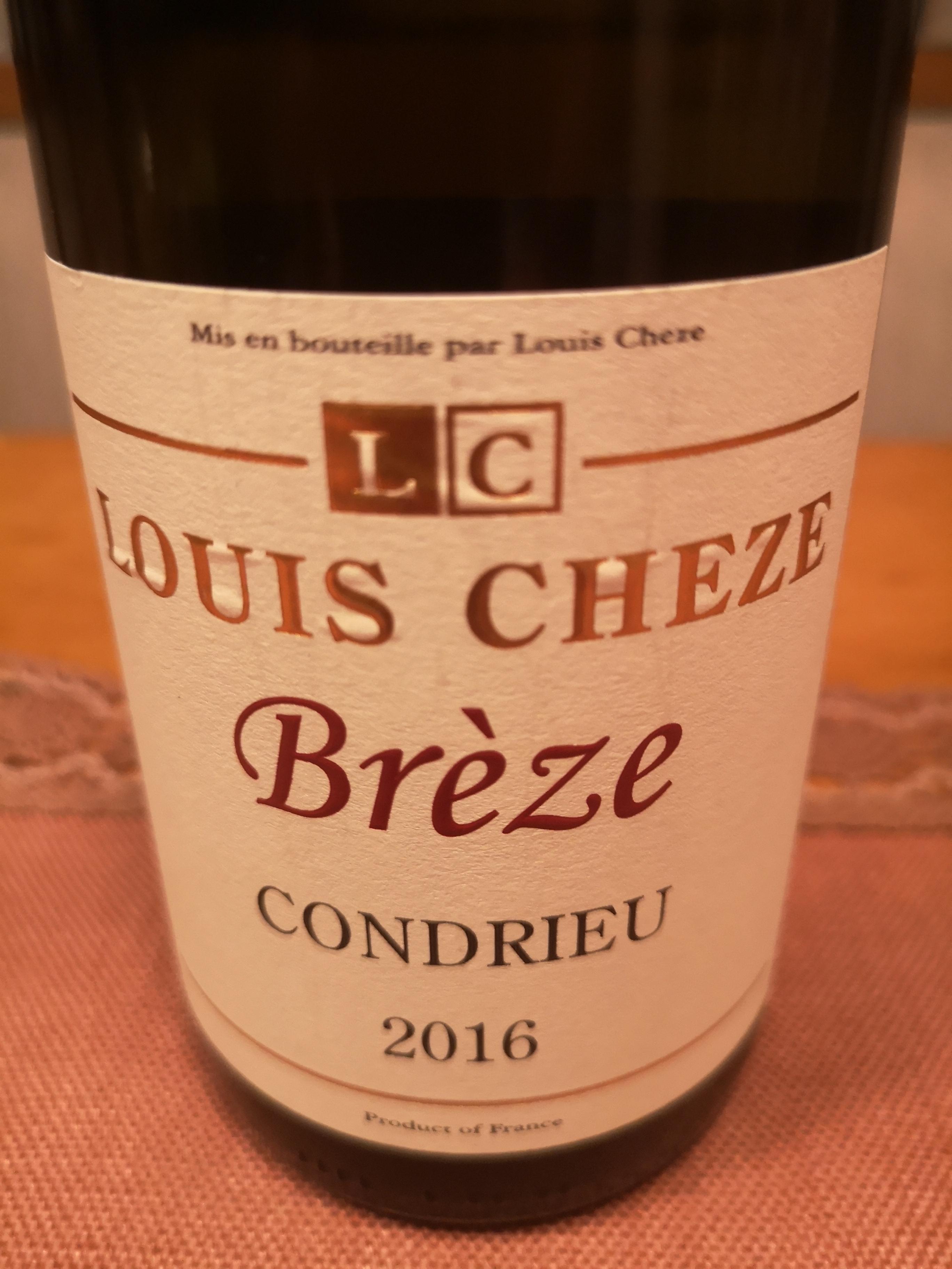 2016 Brèze Condrieu   Louis Cheze