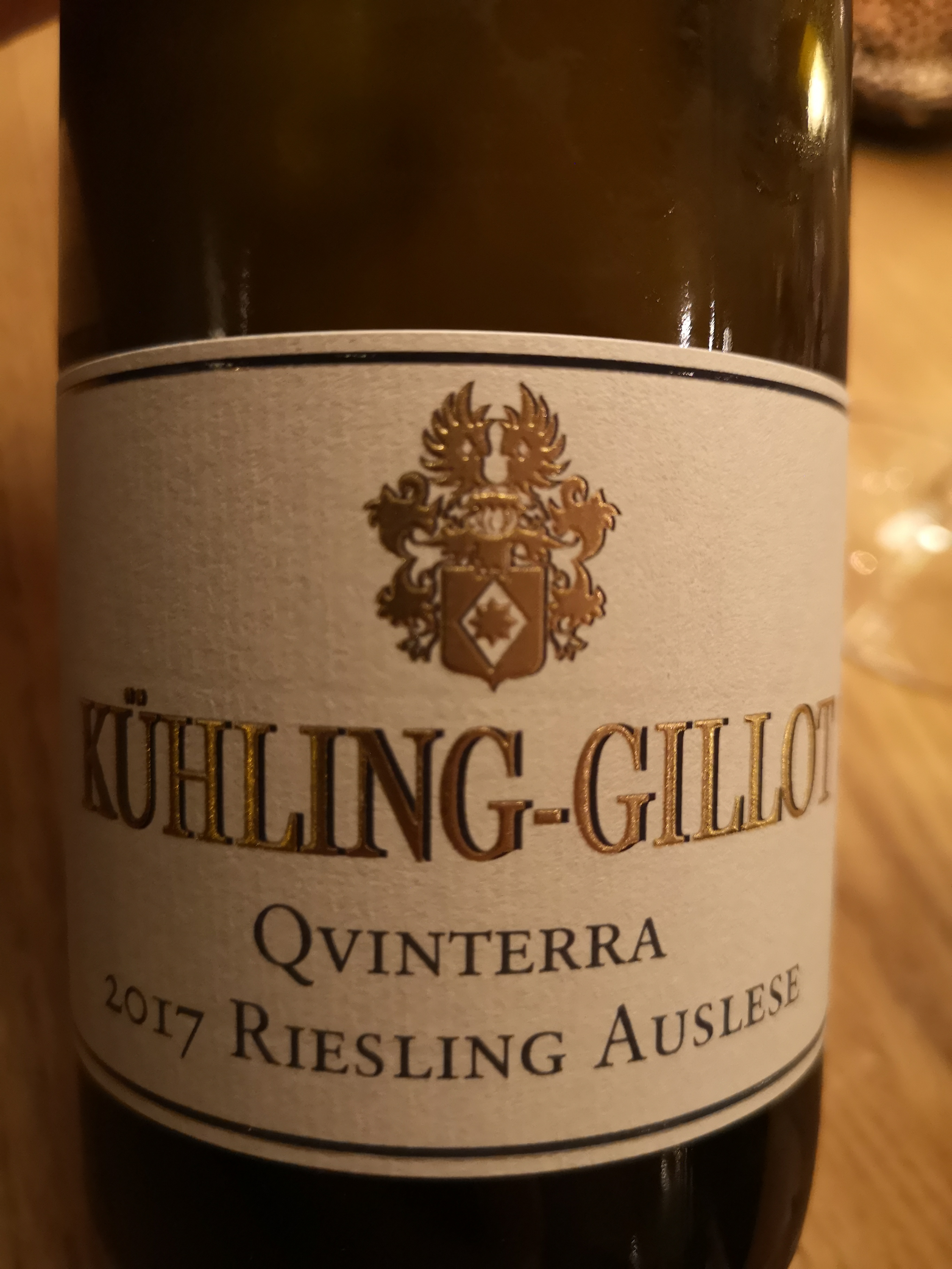 2017 Riesling Auslese Qvinterra | Kühling-Gillot