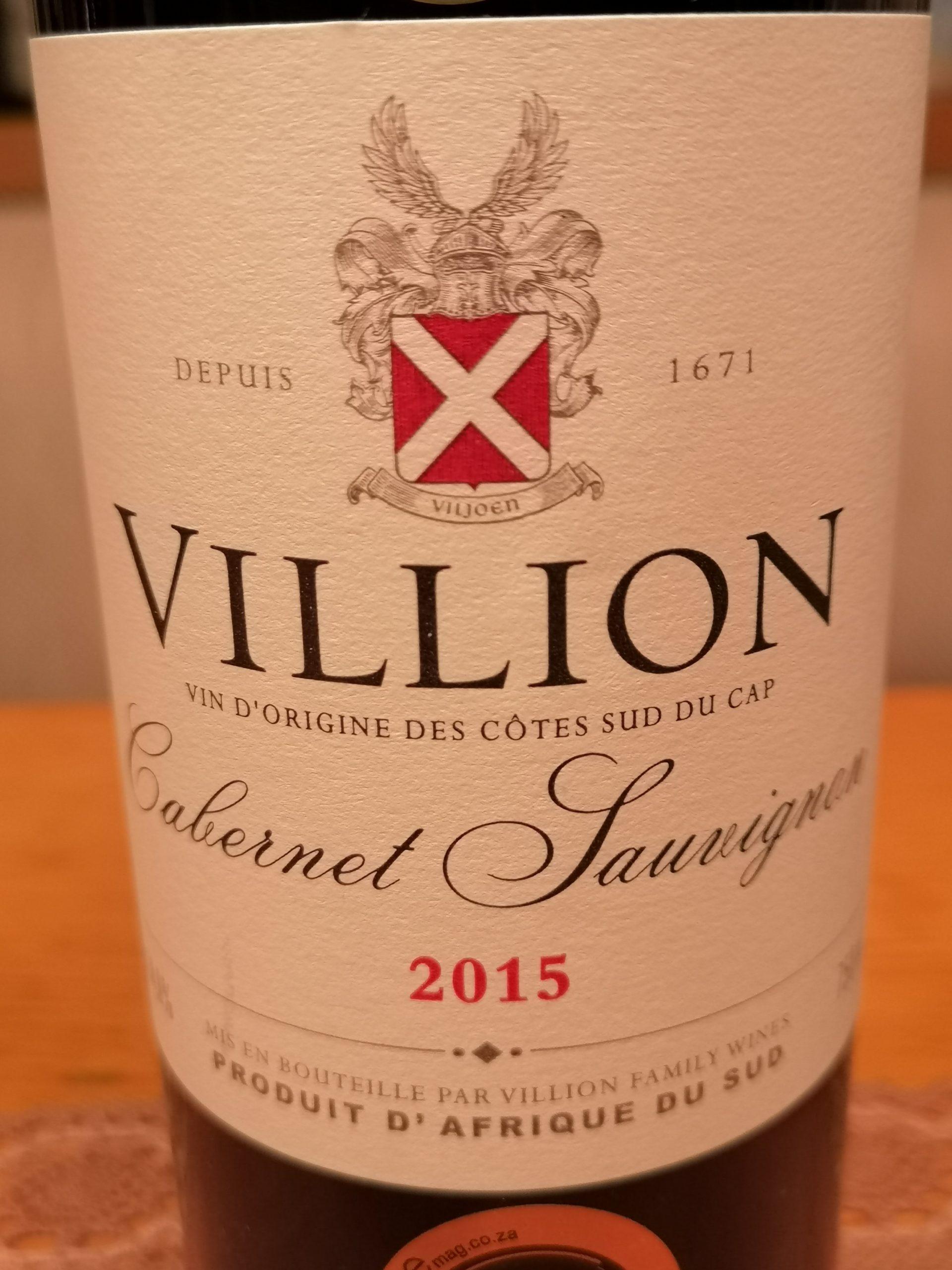 2015 Cabernet Sauvignon   Villion