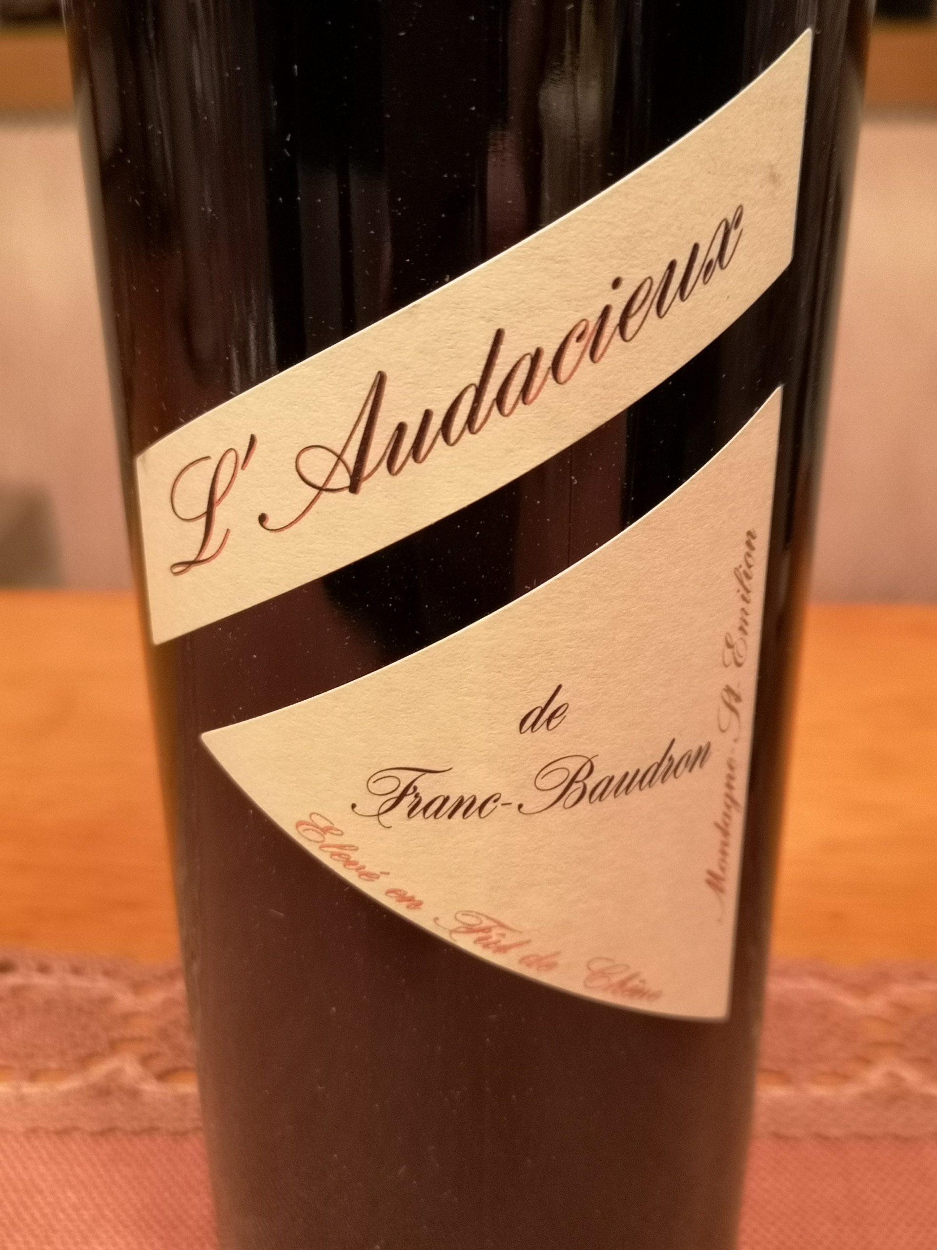 2015 L'Audacieux   Franc-Baudron