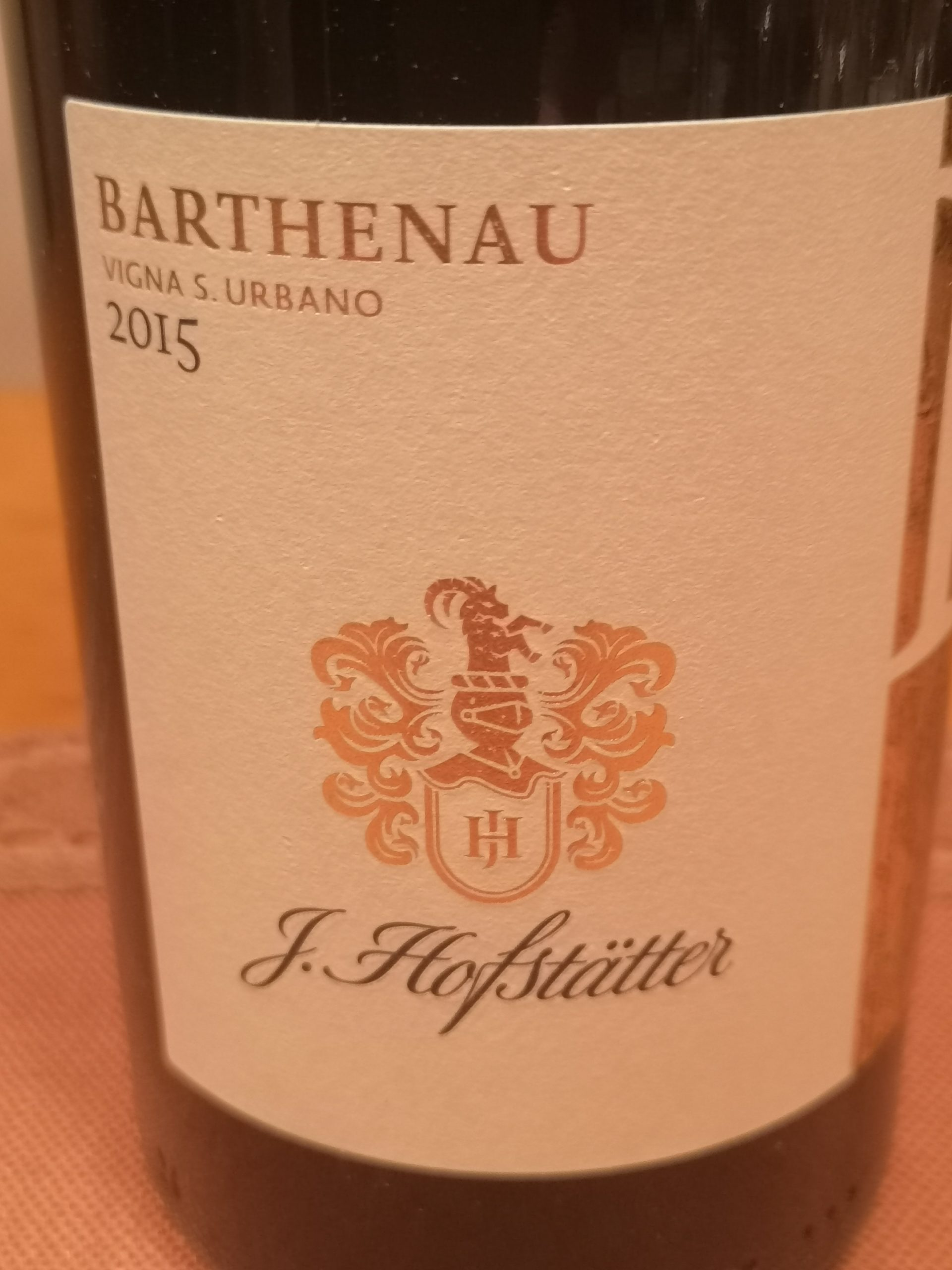 2015 Pinot Nero Barthenau Vigna S. Urbano | Hofstätter