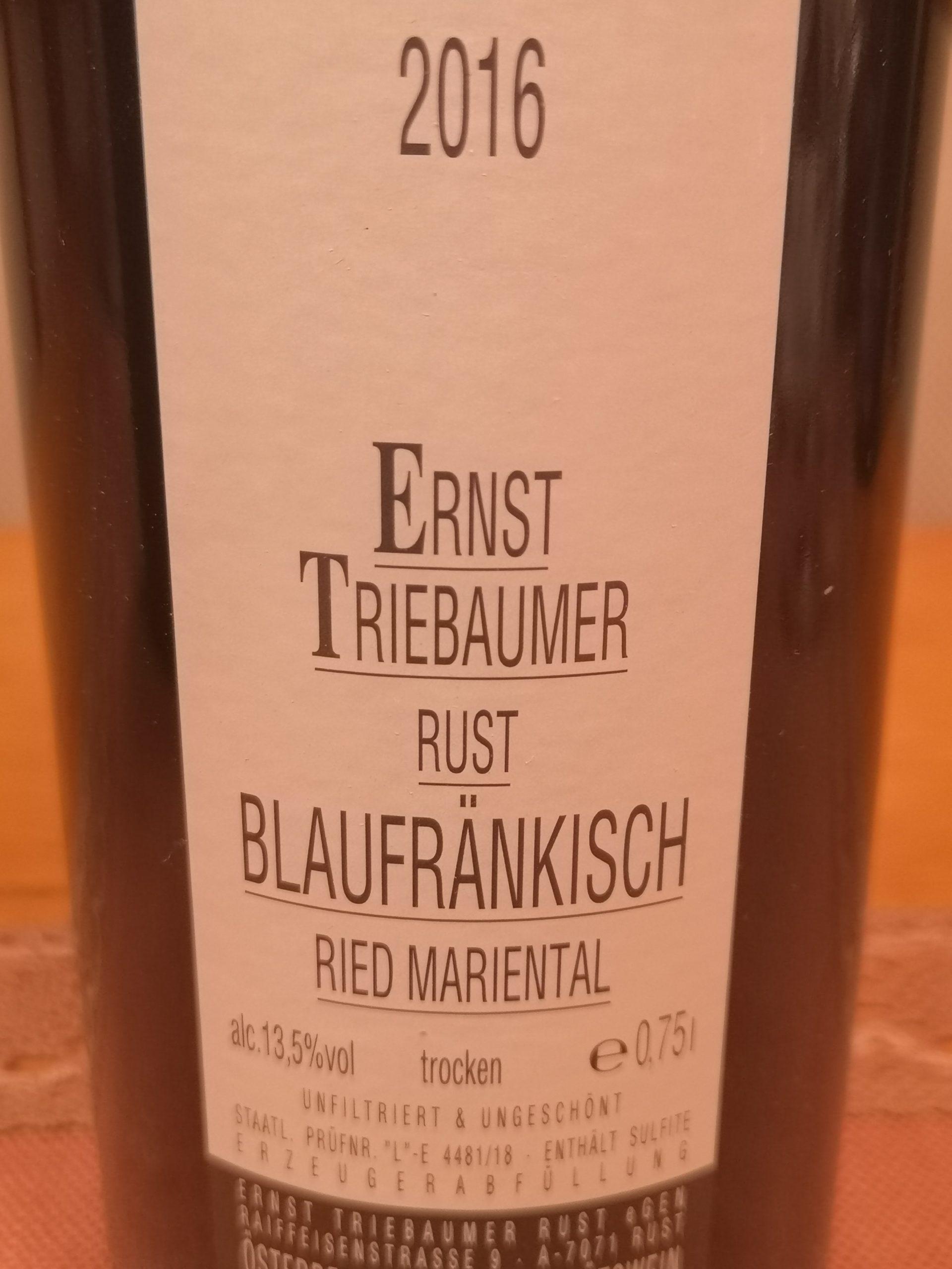 2016 Blaufränkisch Mariental | Triebaumer