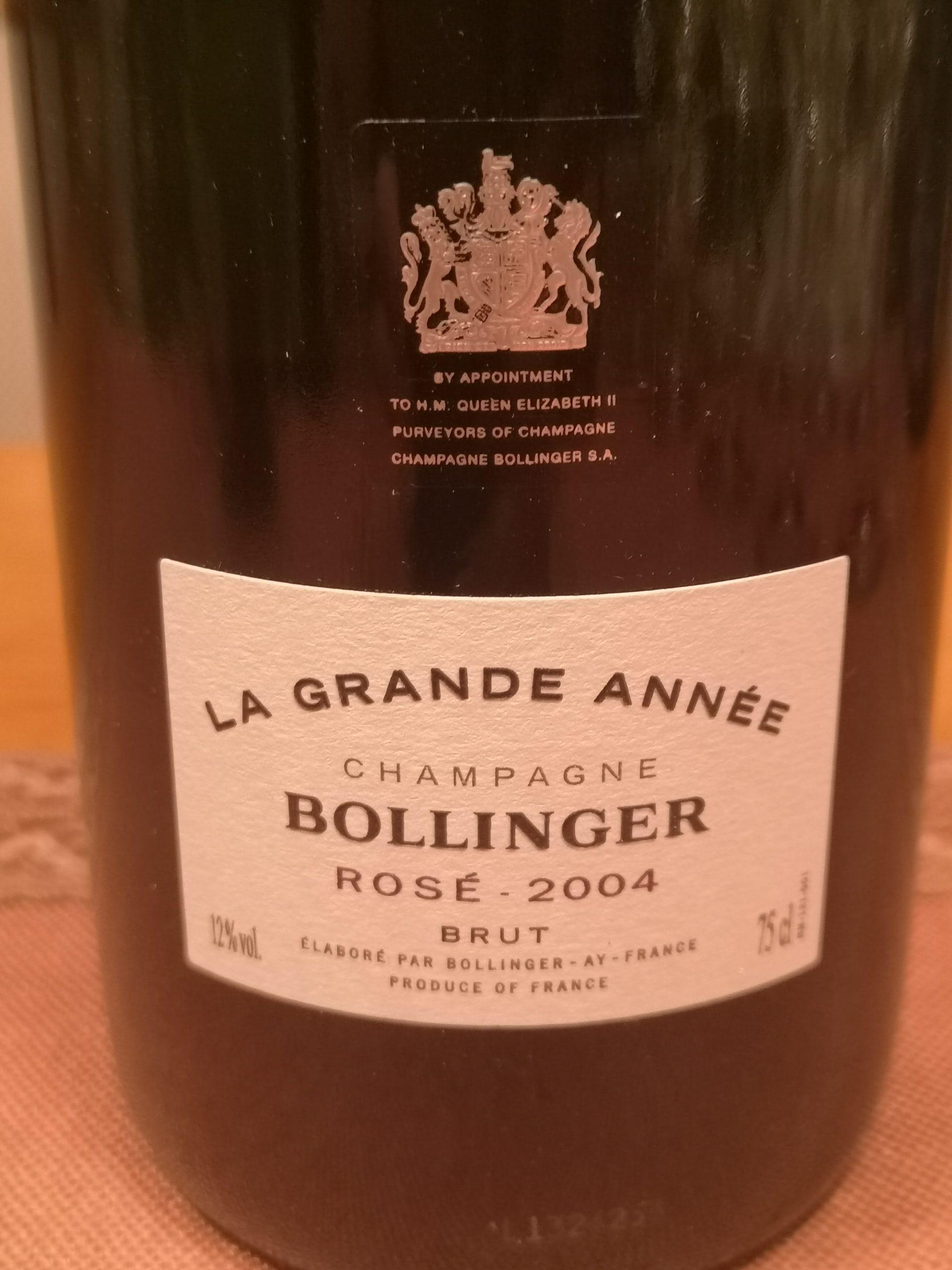 2004 Champagne La Grande Année Rosé | Bollinger