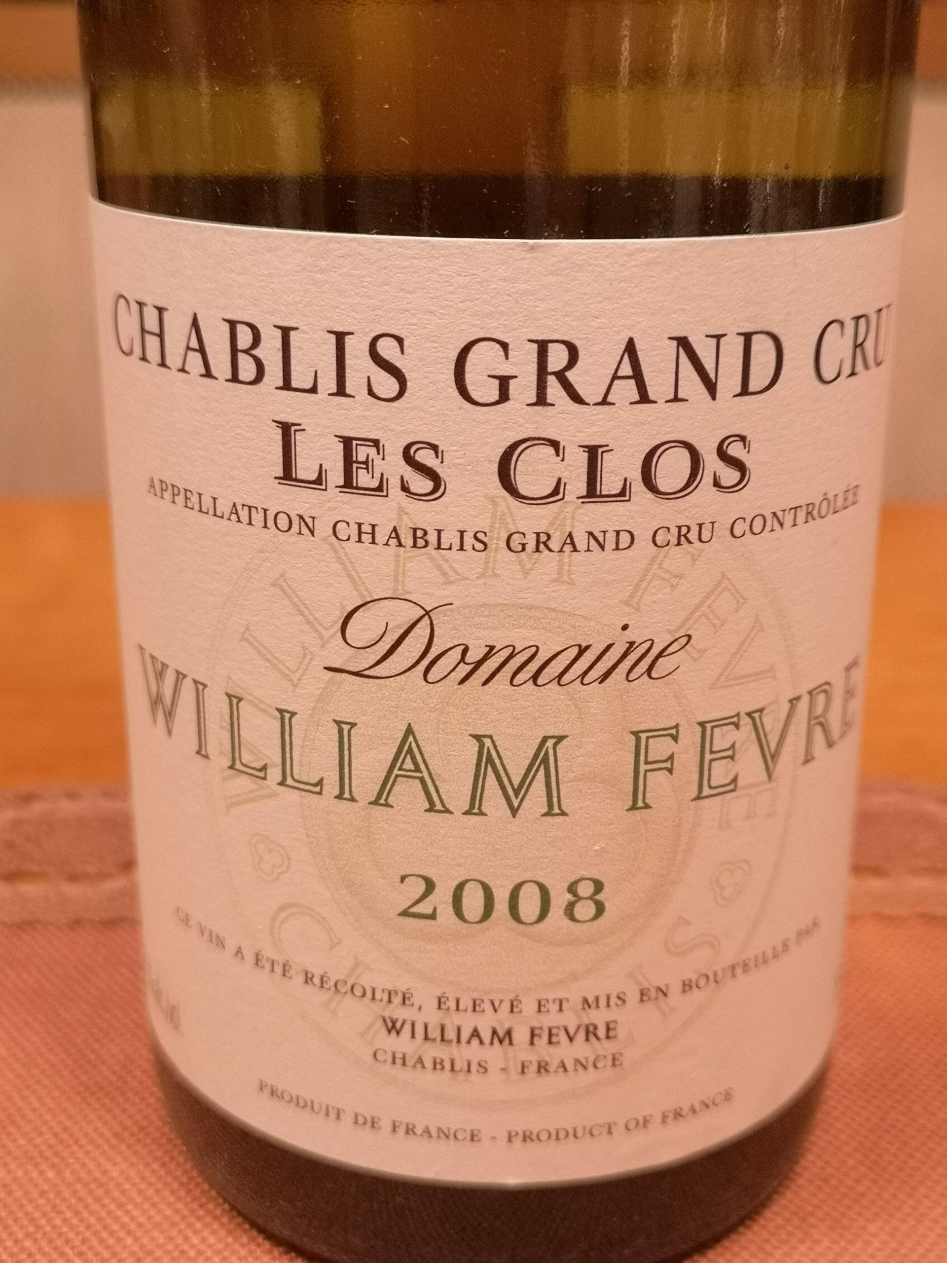 2008 Chablis Les Clos Grand Cru | William Fèvre