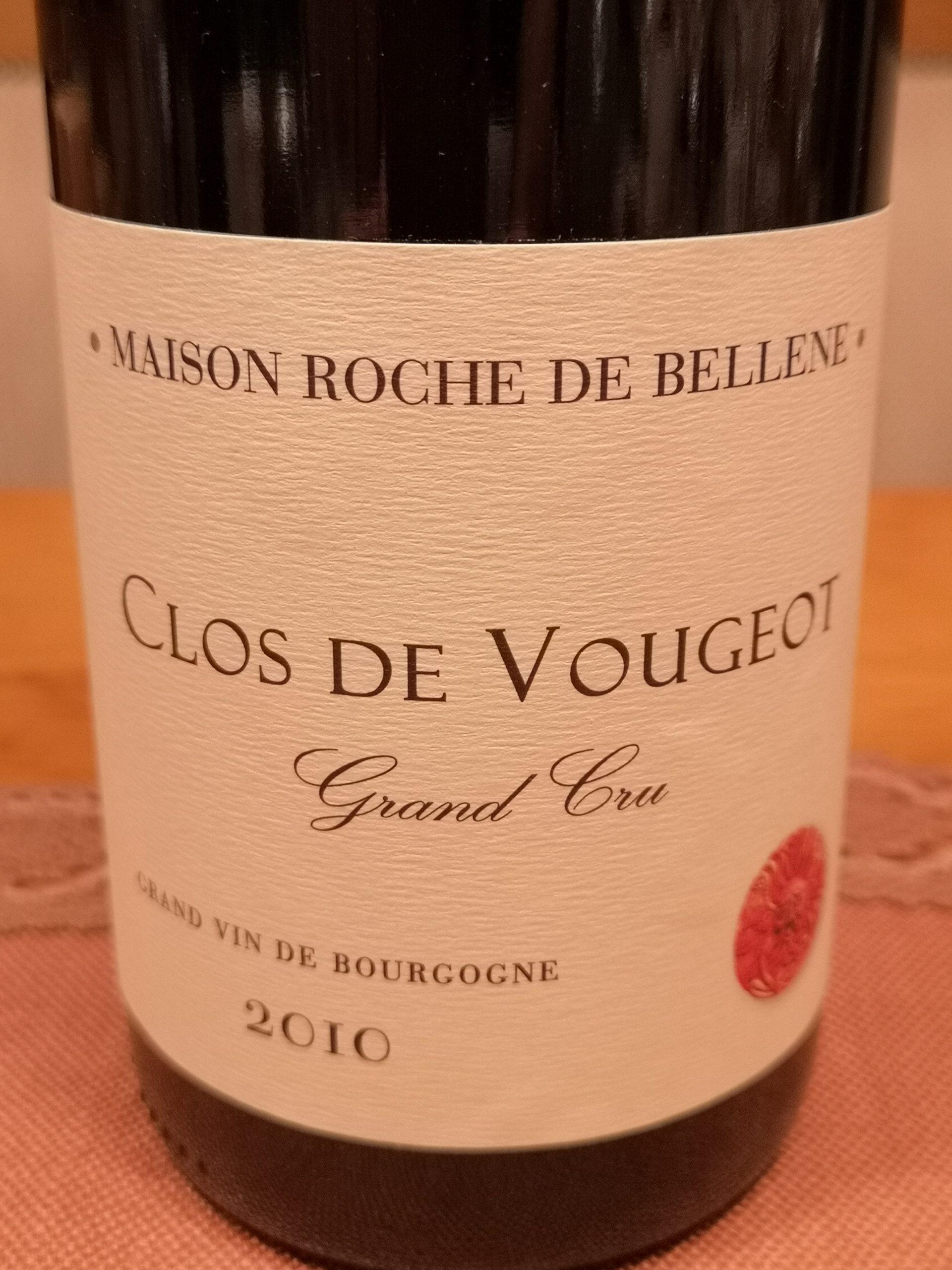 2010 Clos de Vougeot Grand Cru | Potel/Roche de Bellene