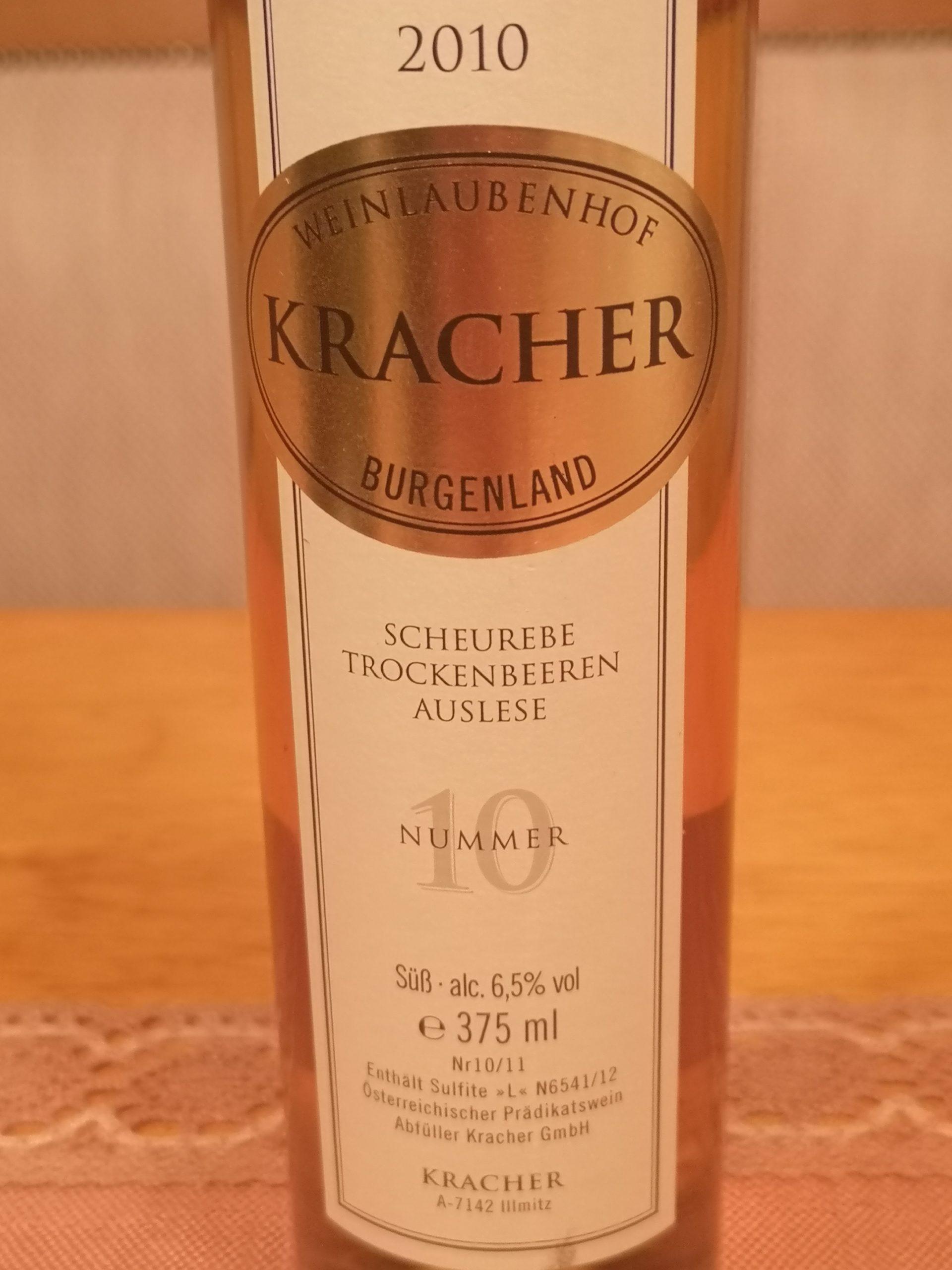 2010 Scheurebe TBA No. 10 | Kracher