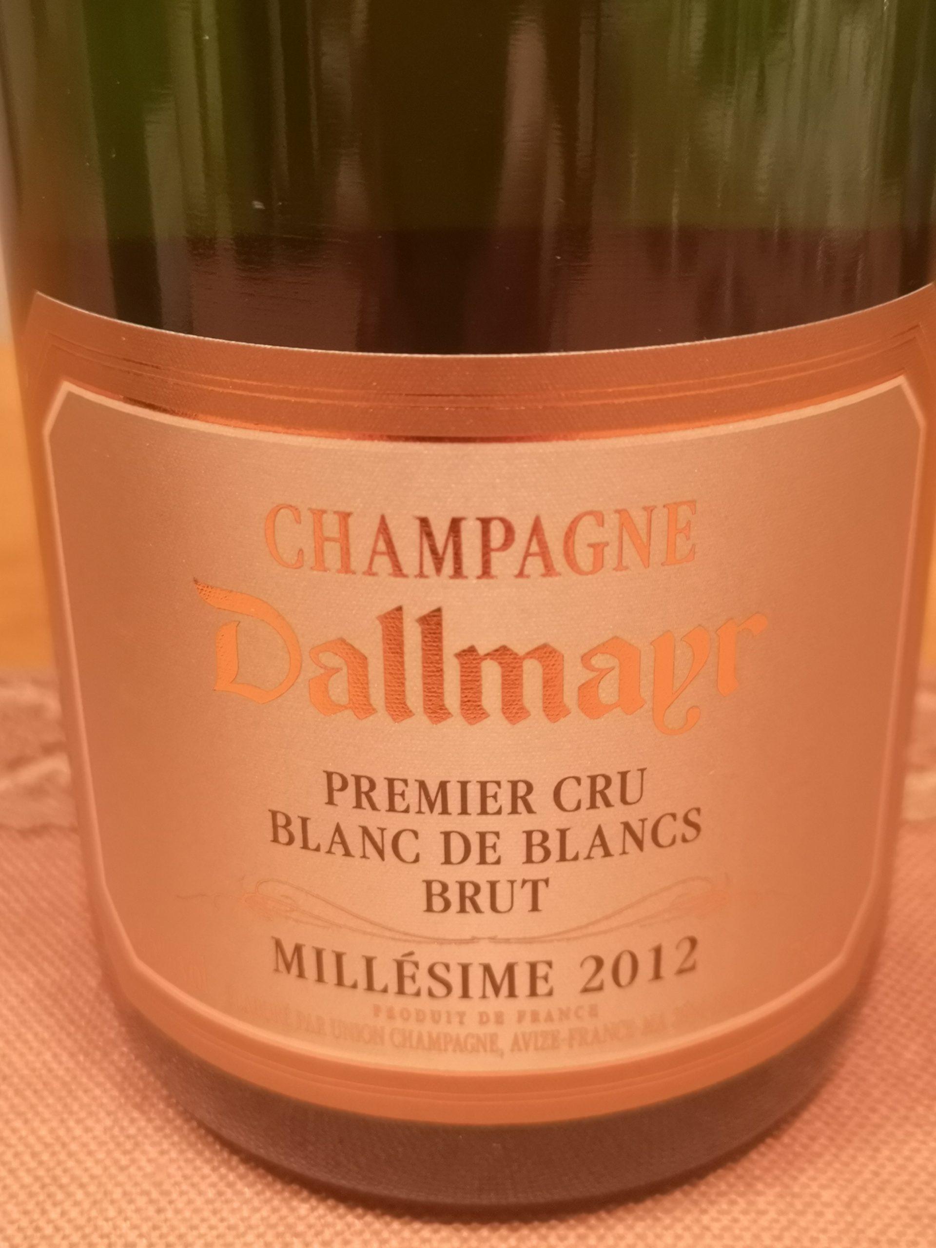 2012 Champagne Premier Brut BdB   Dallmayr