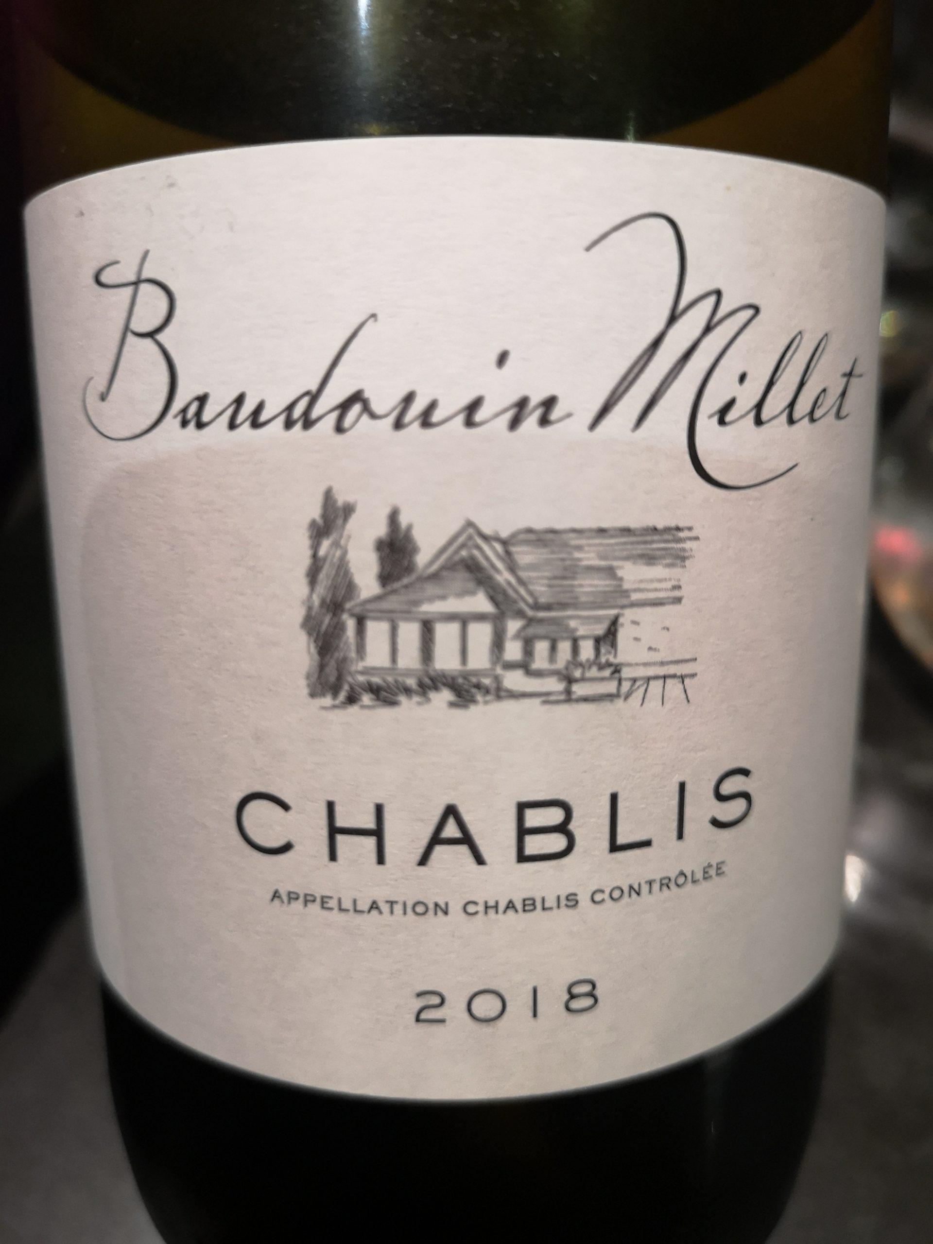 2018 Chablis Baudouin Millet | Domaine Millet