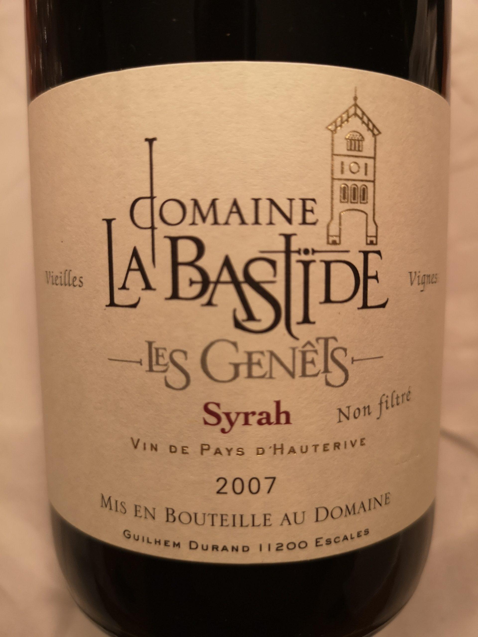 2007 Syrah Les Genêts |  Domaine La Bastide