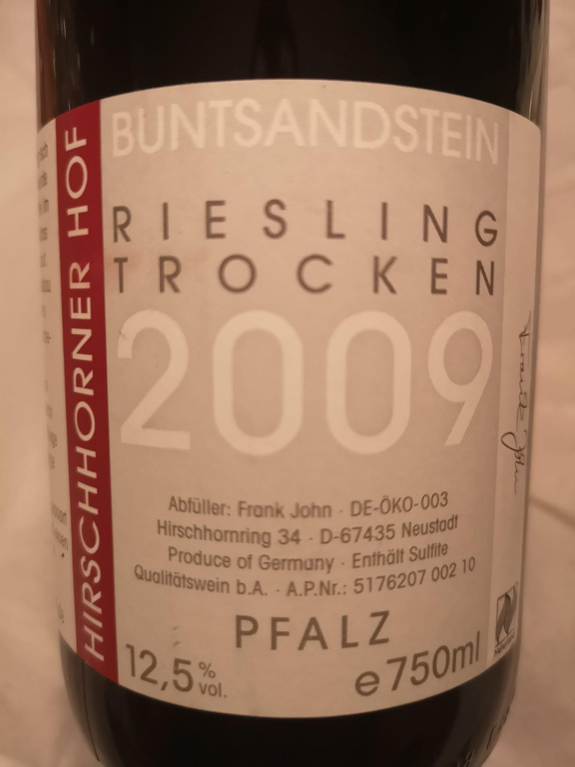 2009 Riesling Buntsandstein | Hirschhorner Hof