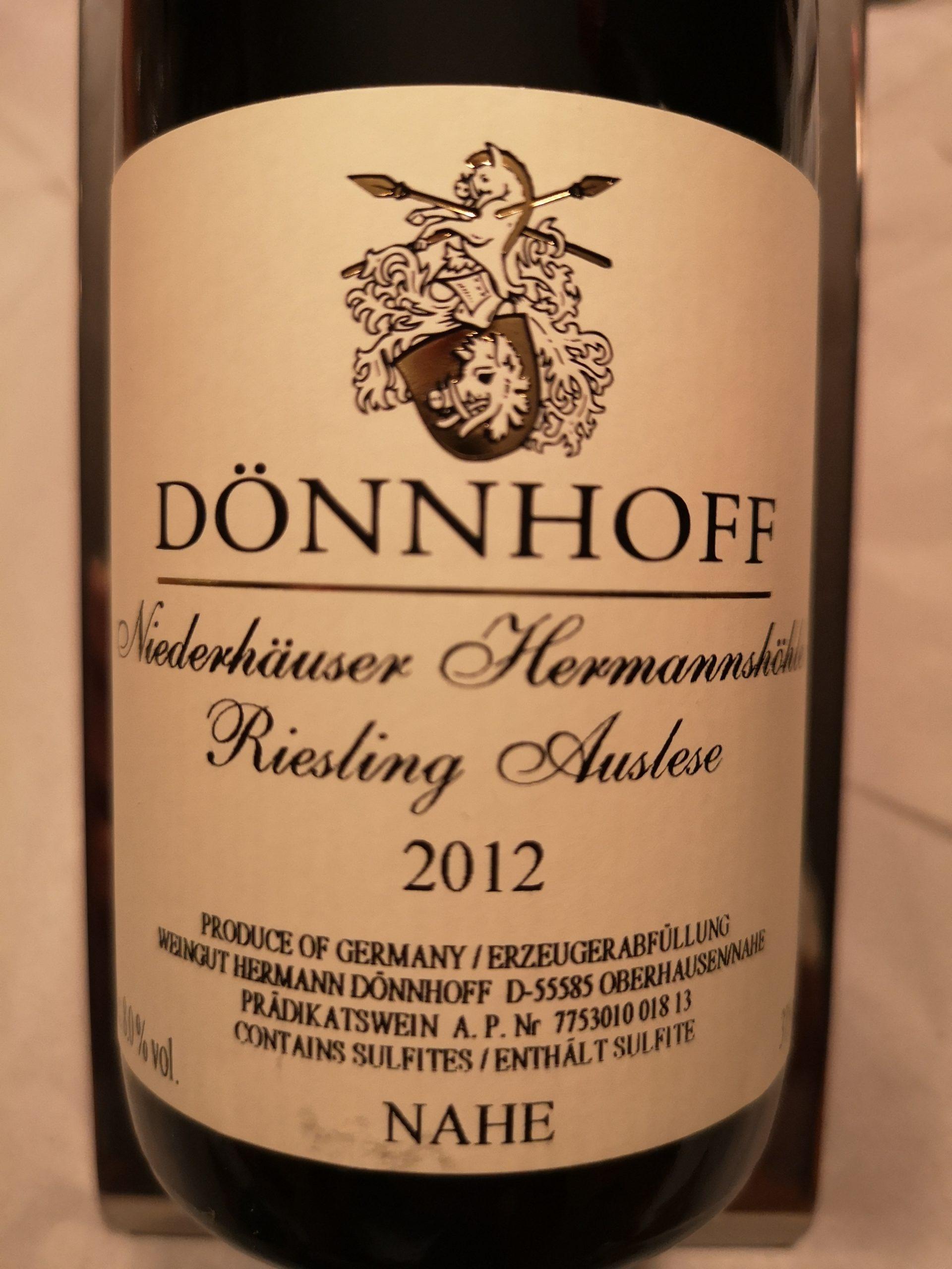 2012 Riesling Hermannshöhle Auslese Goldkapsel | Dönnhoff